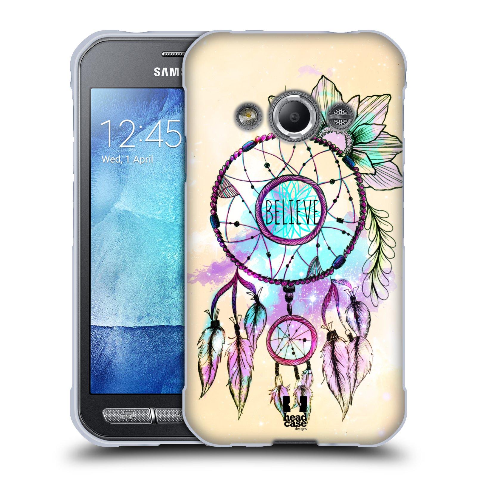 Silikonové pouzdro na mobil Samsung Galaxy Xcover 3 HEAD CASE MIX BELIEVE