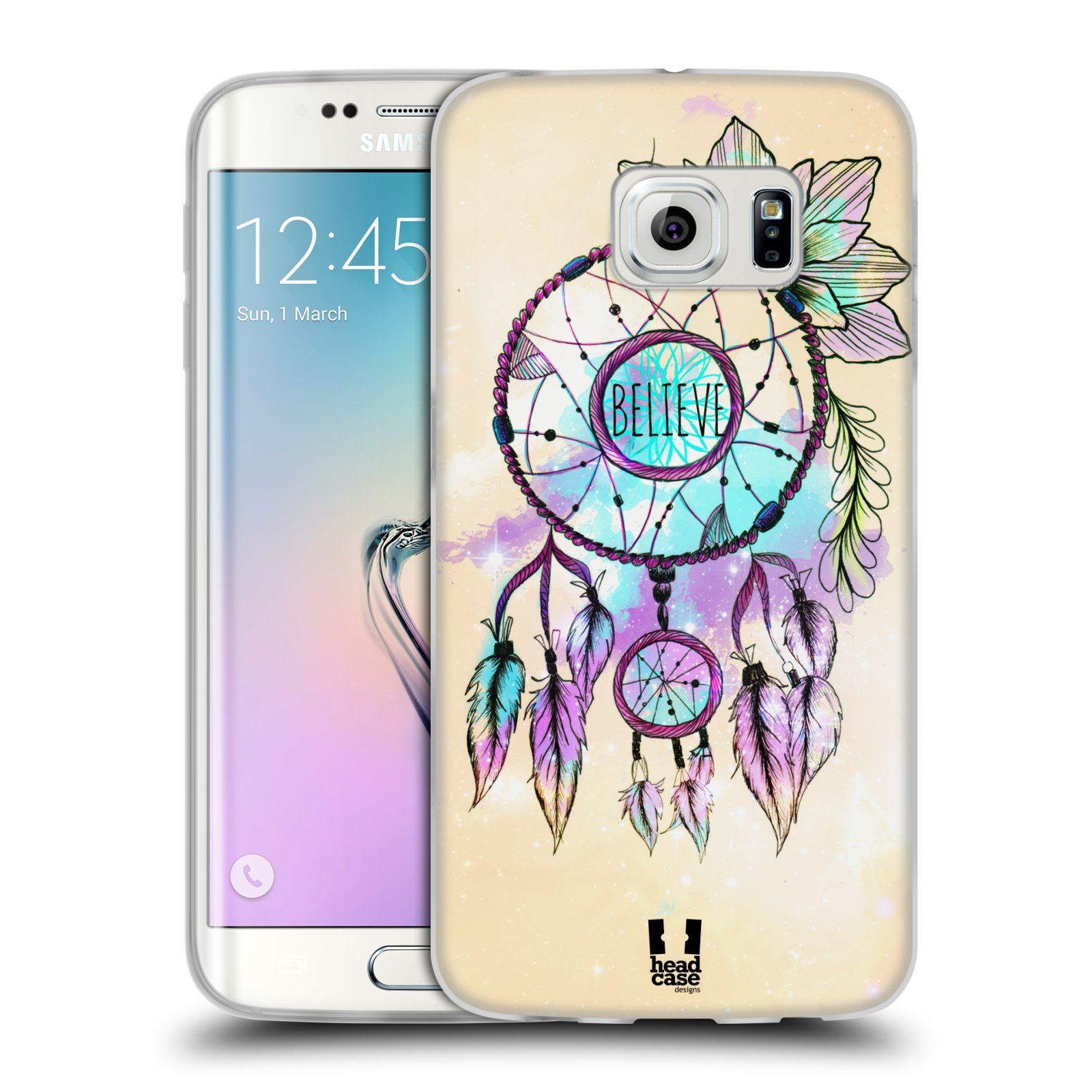 Silikonové pouzdro na mobil Samsung Galaxy S6 Edge HEAD CASE MIX BELIEVE