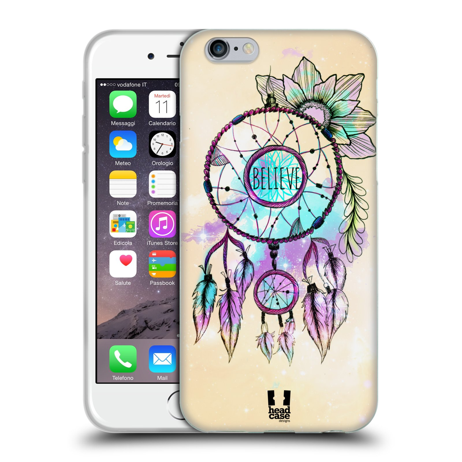Silikonové pouzdro na mobil Apple iPhone 6 a 6S HEAD CASE MIX BELIEVE