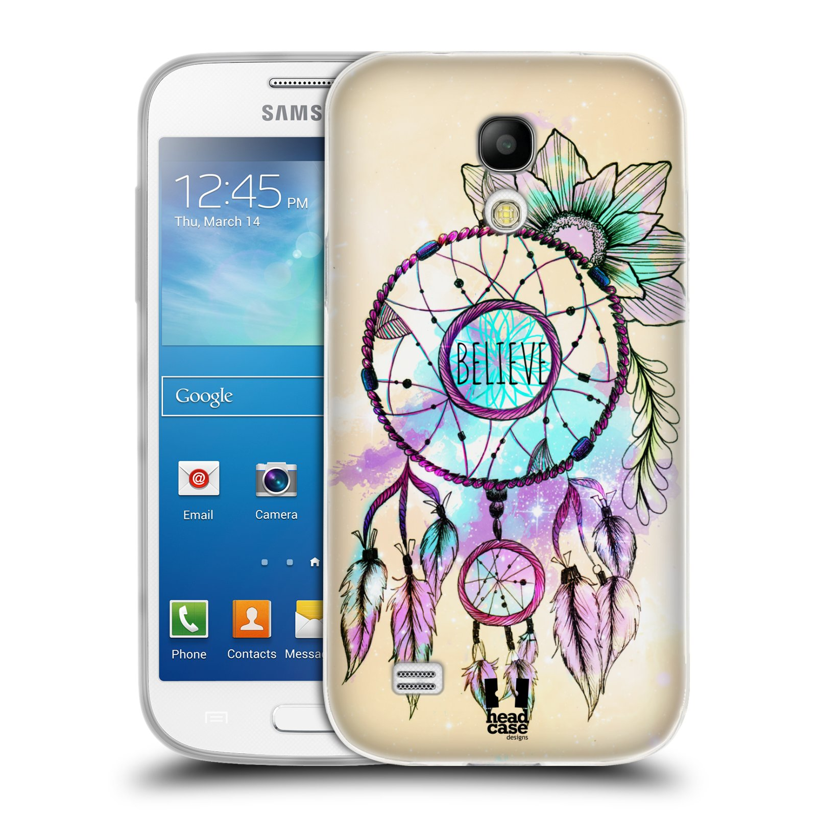 Silikonové pouzdro na mobil Samsung Galaxy S4 Mini VE HEAD CASE MIX BELIEVE