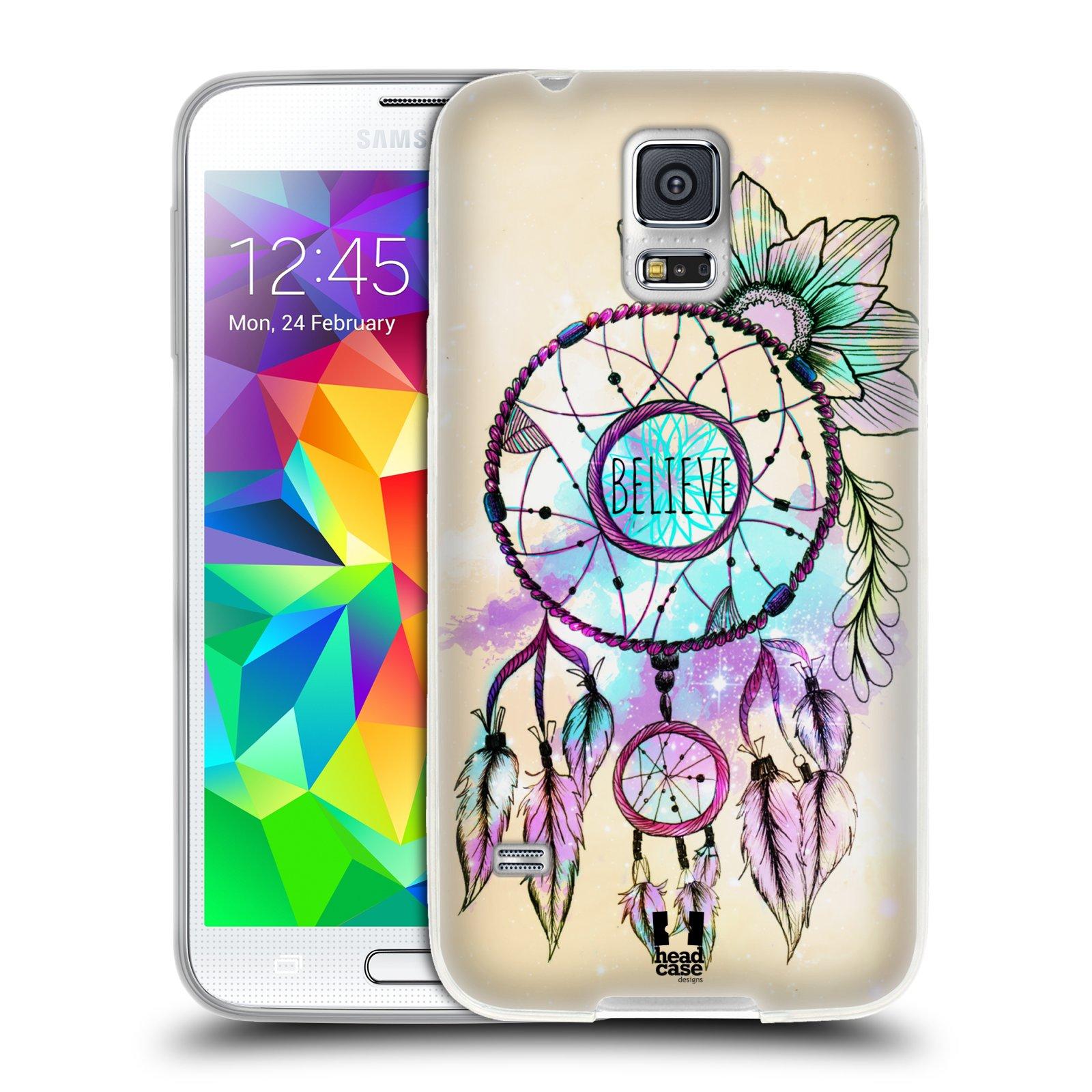 Silikonové pouzdro na mobil Samsung Galaxy S5 HEAD CASE MIX BELIEVE