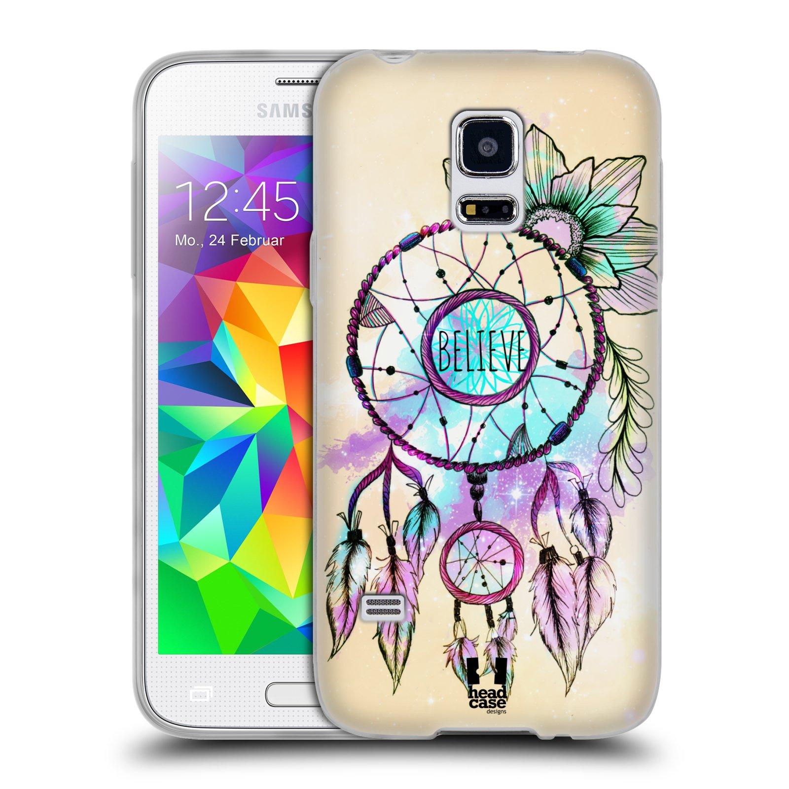 Silikonové pouzdro na mobil Samsung Galaxy S5 Mini HEAD CASE MIX BELIEVE