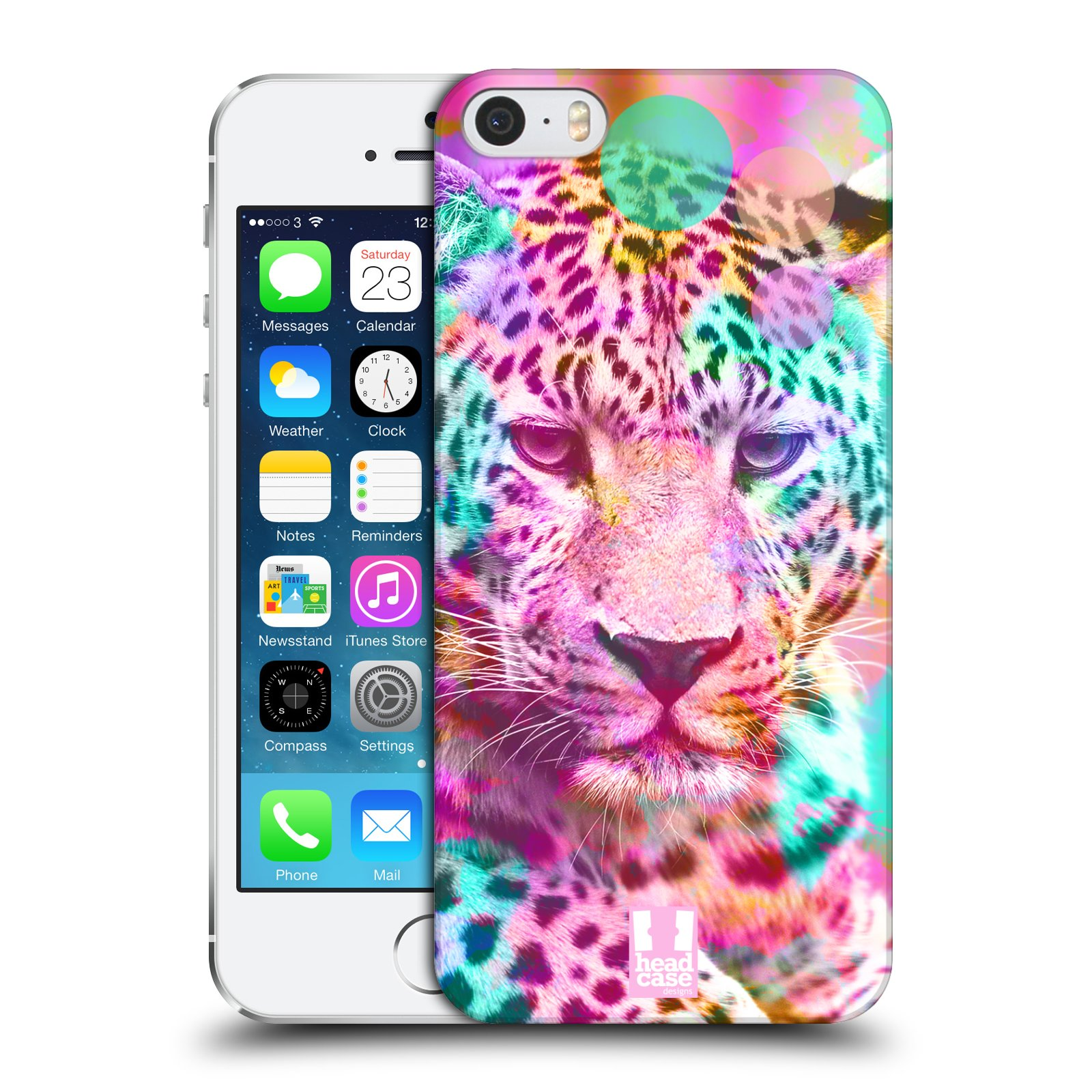 Plastové pouzdro na mobil Apple iPhone SE, 5 a 5S HEAD CASE MIX LEOPARD