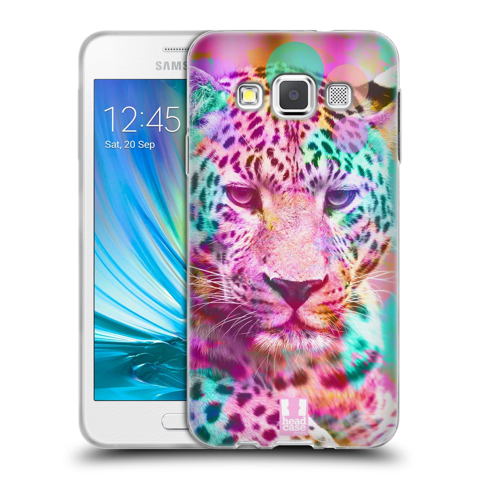 Silikonové pouzdro na mobil Samsung Galaxy A3 HEAD CASE MIX LEOPARD