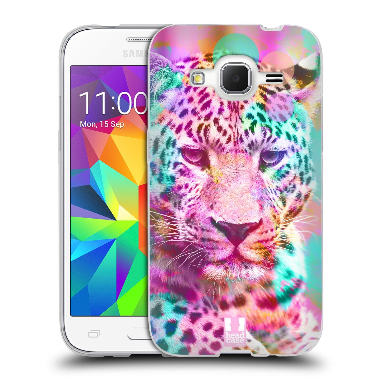 Silikonové pouzdro na mobil Samsung Galaxy Core Prime VE HEAD CASE MIX LEOPARD