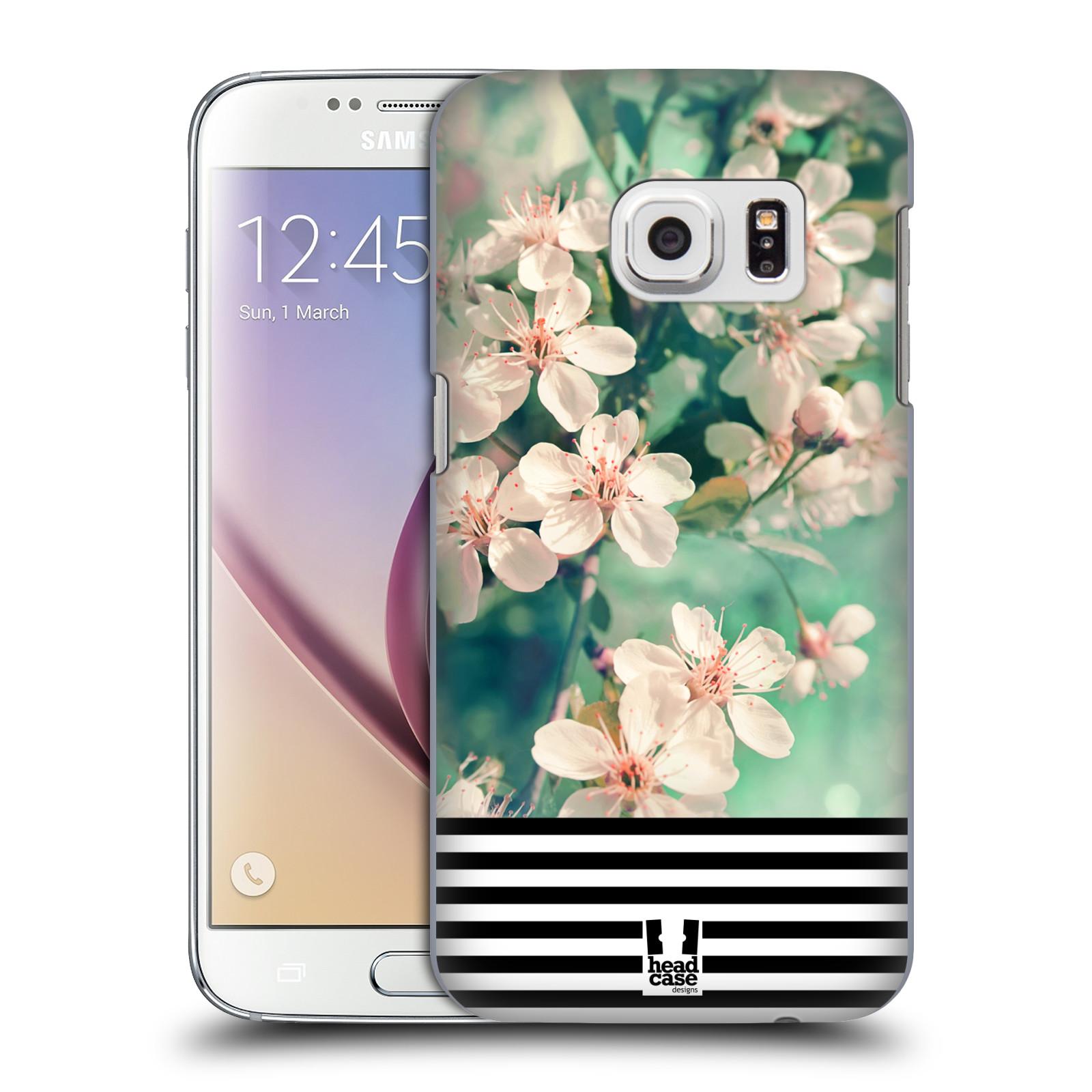 Plastové pouzdro na mobil Samsung Galaxy S7 HEAD CASE MIX FLORAL STRIPES (Kryt či obal na mobilní telefon Samsung Galaxy S7 SM-G930F)