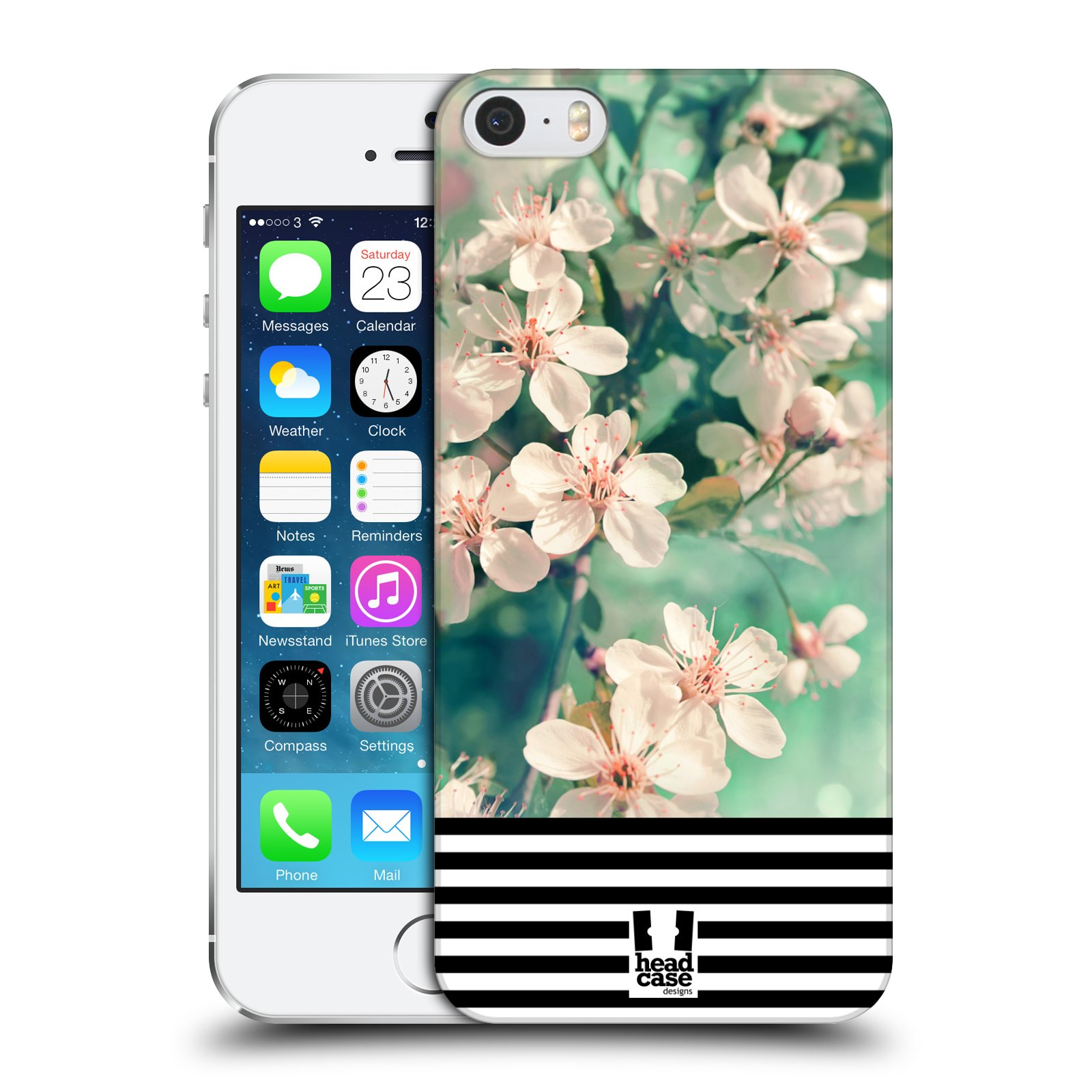 Plastové pouzdro na mobil Apple iPhone SE, 5 a 5S HEAD CASE MIX FLORAL STRIPES
