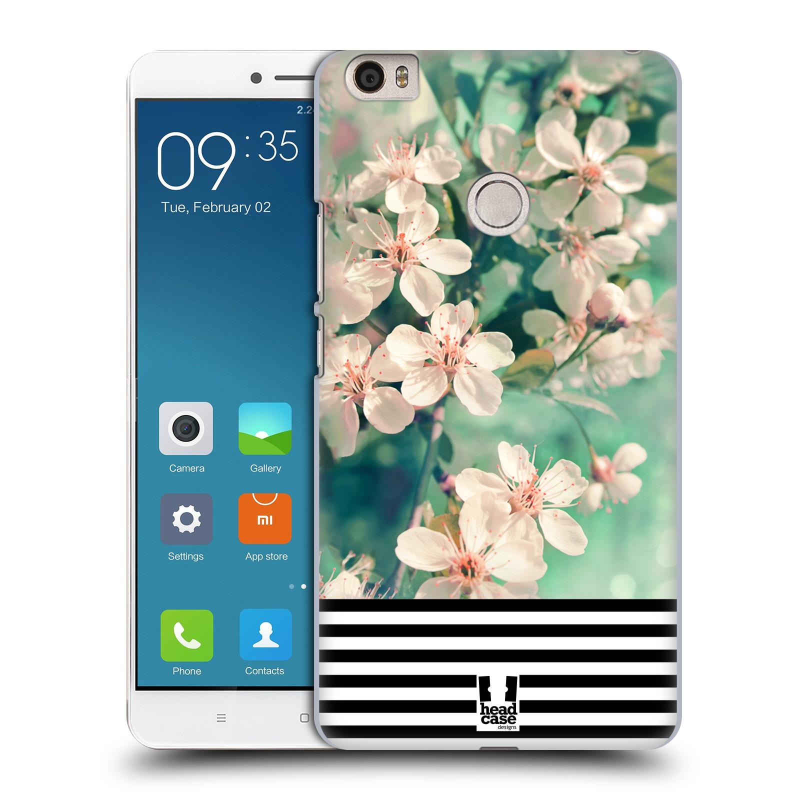 Plastové pouzdro na mobil Xiaomi Mi Max HEAD CASE MIX FLORAL STRIPES