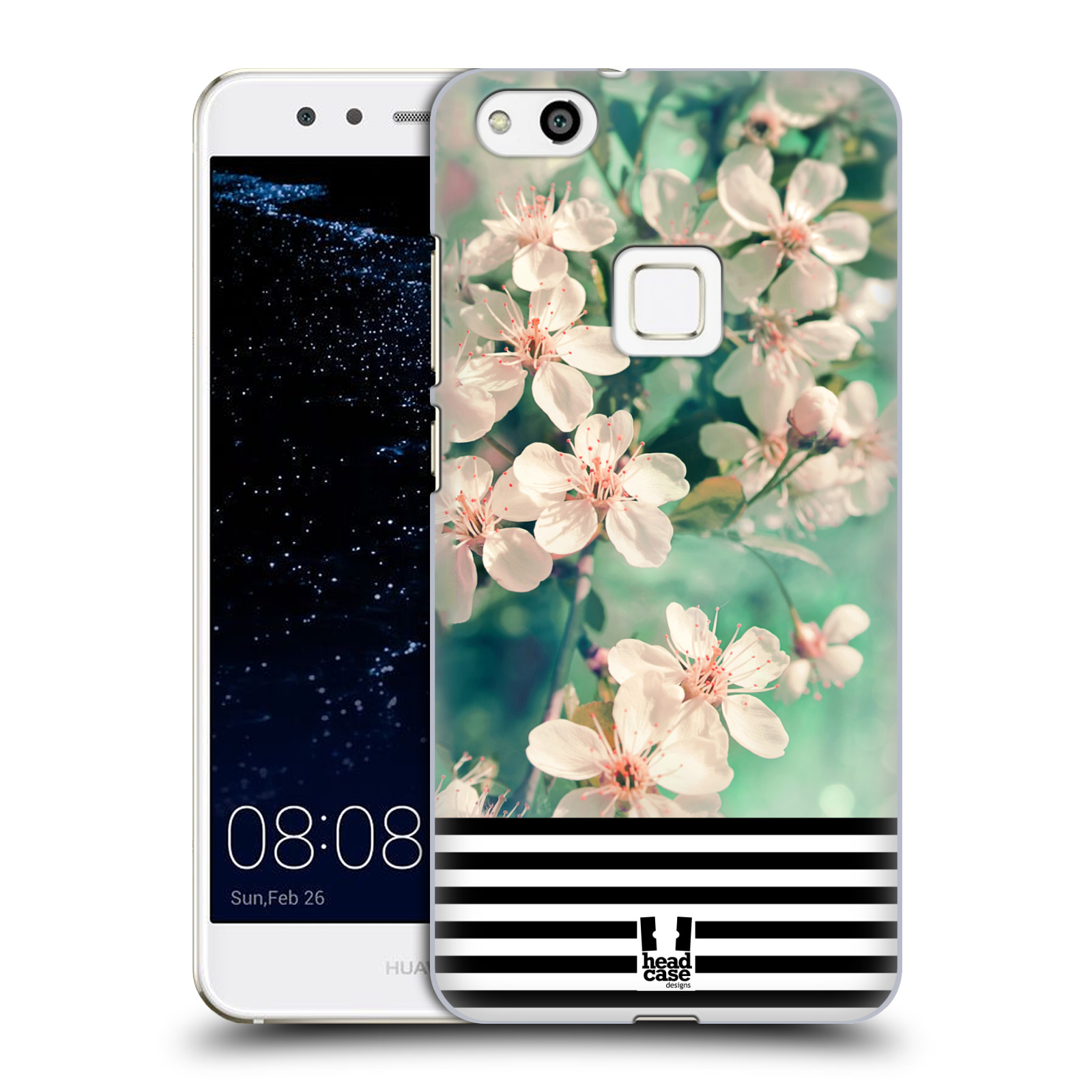Plastové pouzdro na mobil Huawei P10 Lite Head Case - MIX FLORAL STRIPES (Plastový kryt či obal na mobilní telefon Huawei P10 Lite Dual SIM (LX1/LX1A))