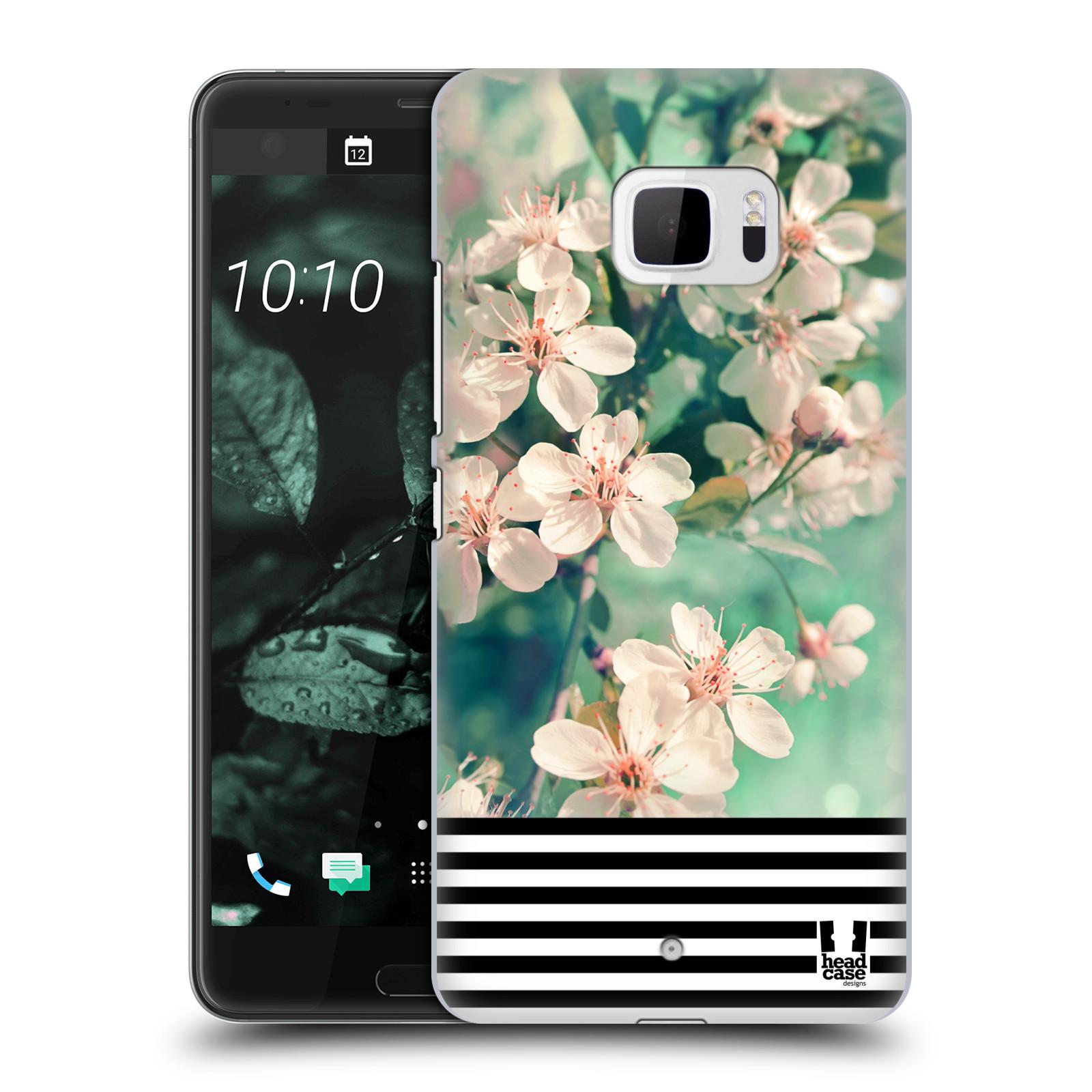 Plastové pouzdro na mobil HTC U Ultra Head Case - MIX FLORAL STRIPES (Plastový kryt či obal na mobilní telefon HTC U Ultra (99HALT015-00))