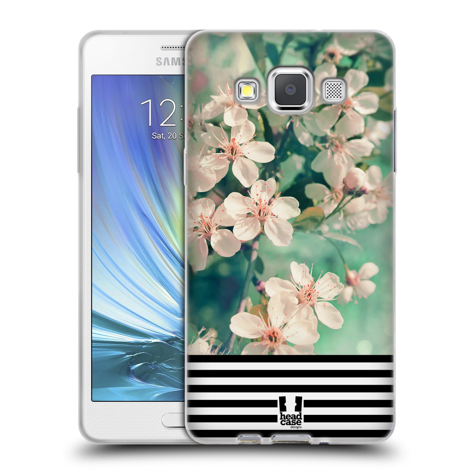 Silikonové pouzdro na mobil Samsung Galaxy A5 HEAD CASE MIX FLORAL STRIPES