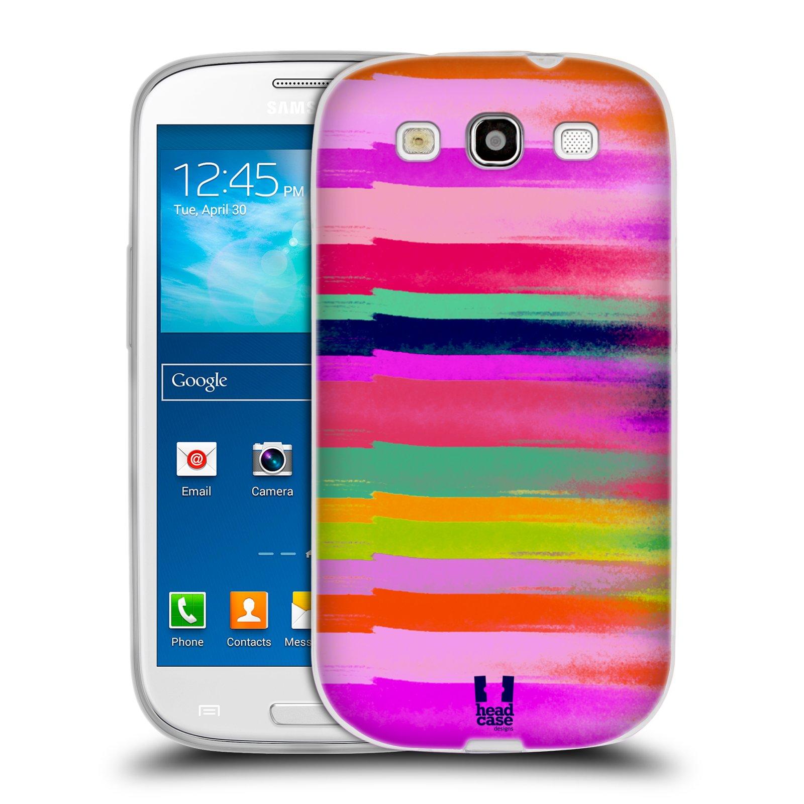 Silikonové pouzdro na mobil Samsung Galaxy S3 Neo HEAD CASE MIX COLOR STRIPES (Silikonový kryt či obal na mobilní telefon Samsung Galaxy S3 Neo GT-i9301i)