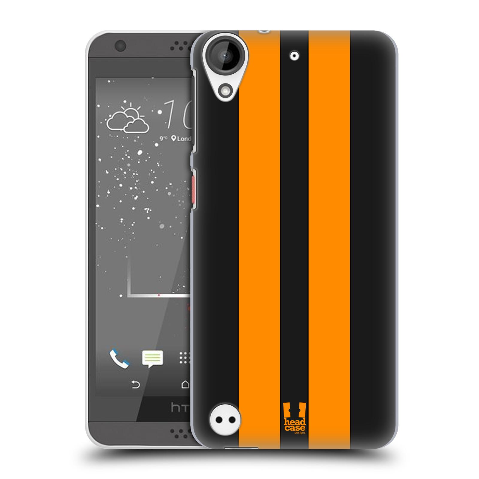 Plastové pouzdro na mobil HTC Desire 530 HEAD CASE ŽLUTÉ A ČERNÉ PRUHY (Plastový kryt či obal na mobilní telefon HTC Desire 530)