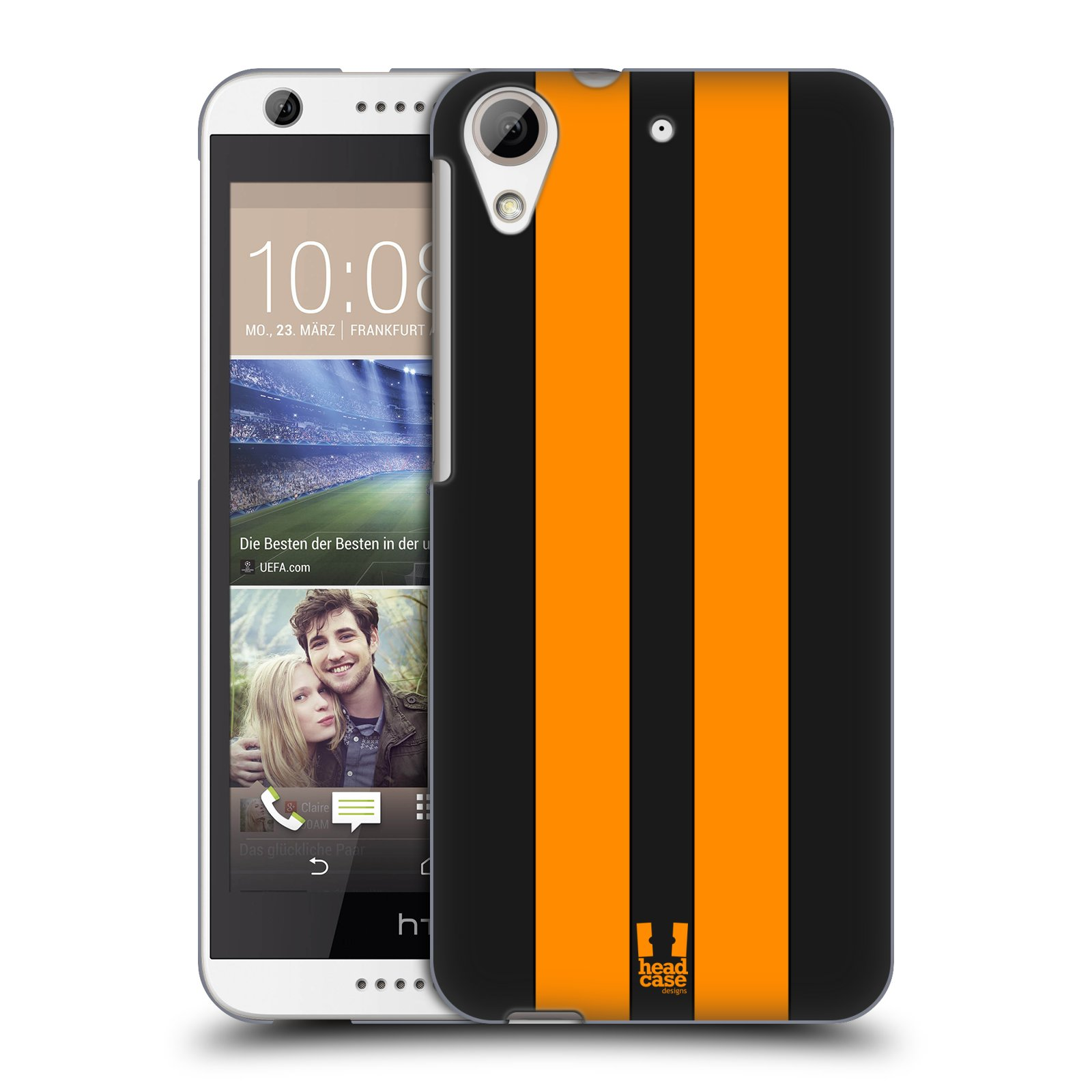 Plastové pouzdro na mobil HTC Desire 626 / 626G HEAD CASE ŽLUTÉ A ČERNÉ PRUHY (Kryt či obal na mobilní telefon HTC Desire 626G Dual SIM a HTC Desire 626)