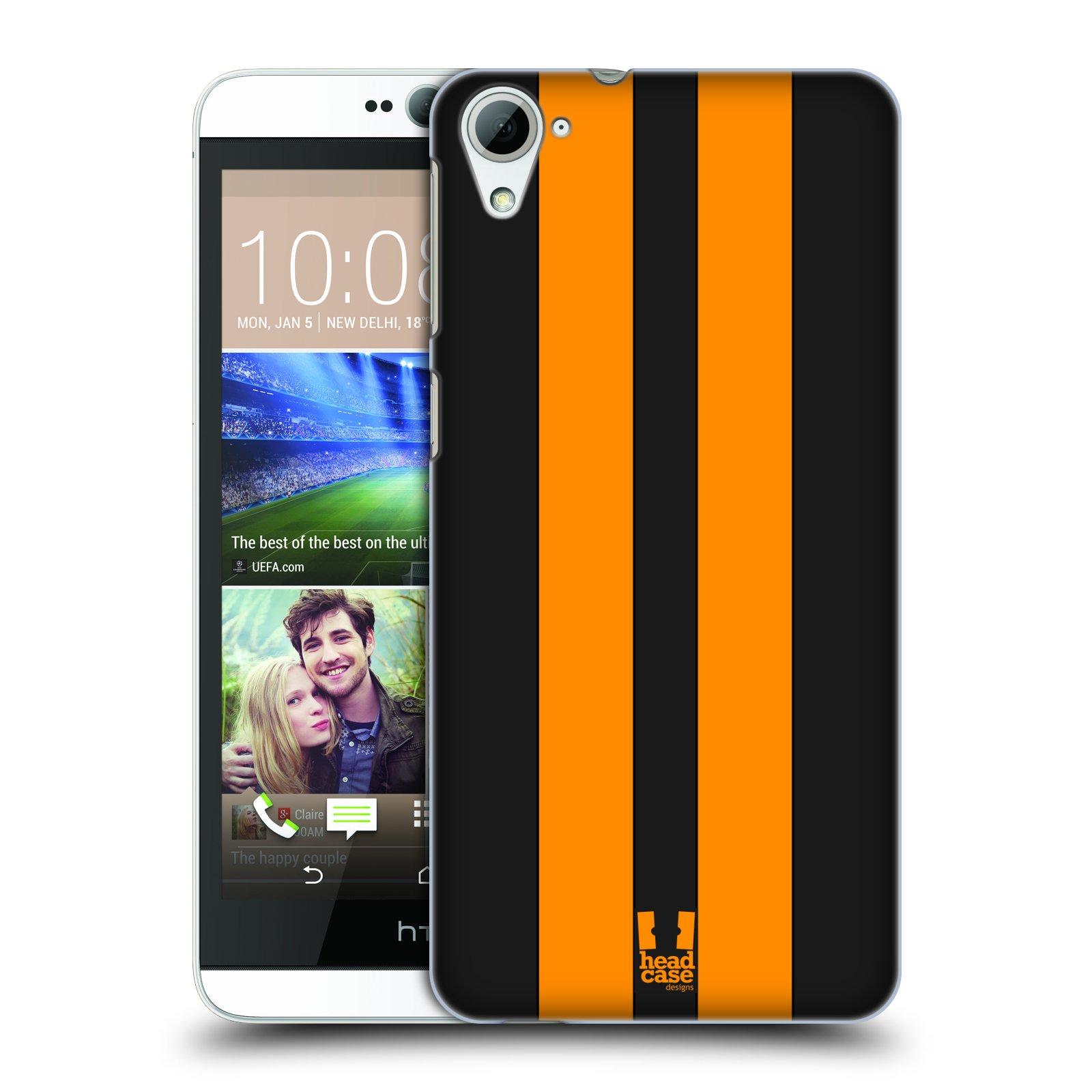 Plastové pouzdro na mobil HTC Desire 826 HEAD CASE ŽLUTÉ A ČERNÉ PRUHY (Kryt či obal na mobilní telefon HTC Desire 826 Dual SIM)