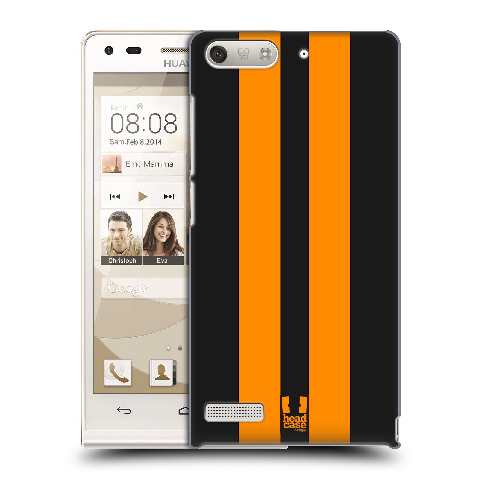 Plastové pouzdro na mobil Huawei Ascend G6 HEAD CASE ŽLUTÉ A ČERNÉ PRUHY (Kryt či obal na mobilní telefon Huawei Ascend G6 bez LTE)