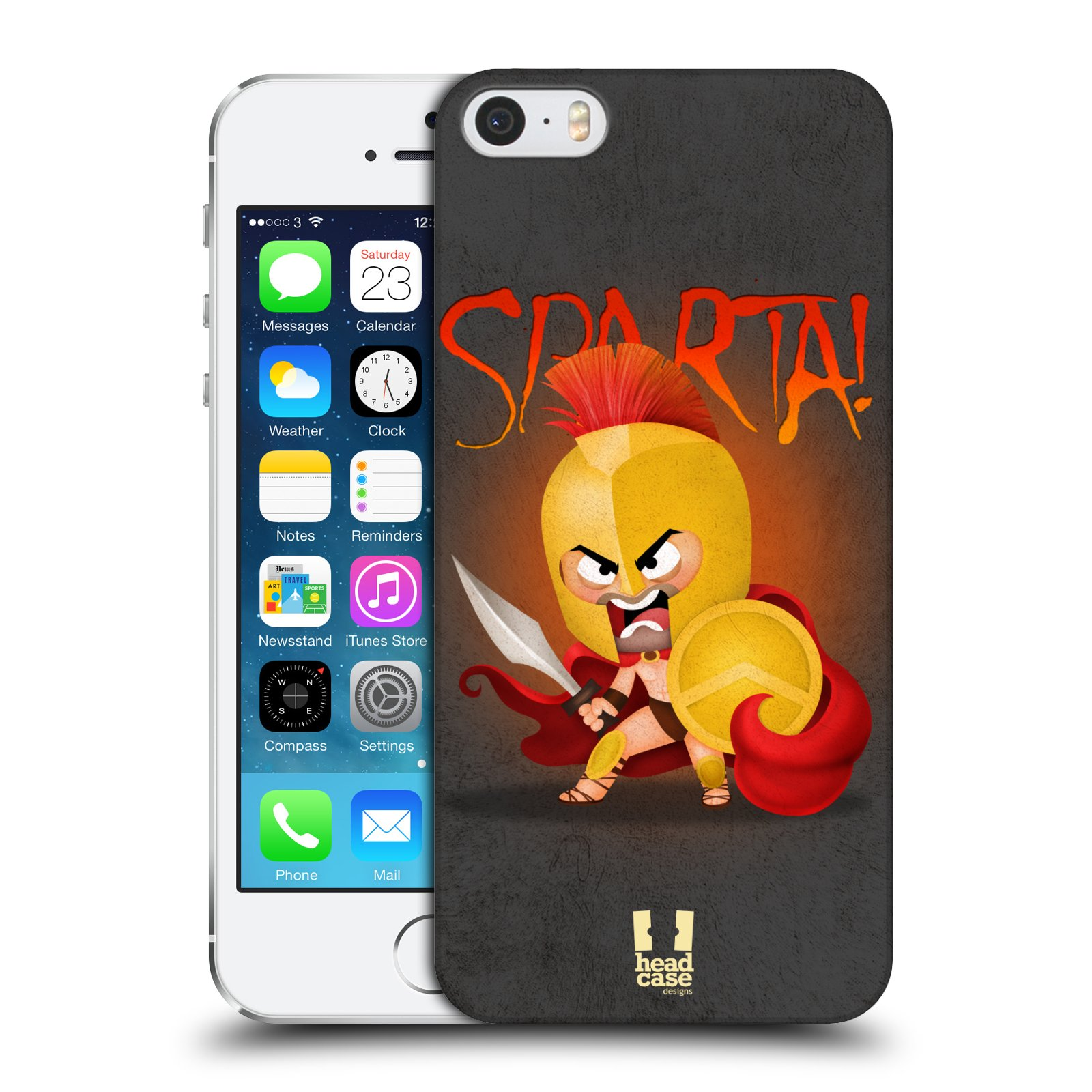 Plastové pouzdro na mobil Apple iPhone SE, 5 a 5S HEAD CASE Sparta