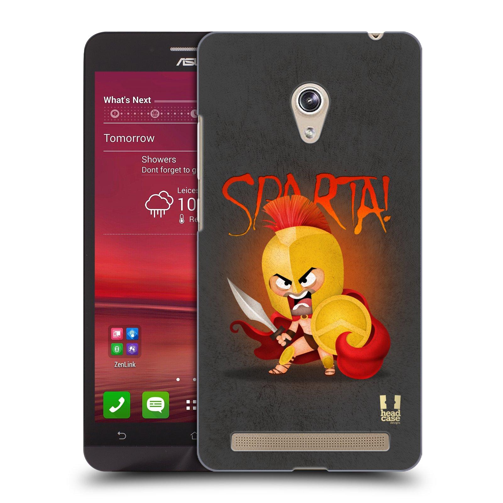 Plastové pouzdro na mobil Asus Zenfone 6 HEAD CASE Sparta (Kryt či obal na mobilní telefon Asus Zenfone 6 A600CG / A601CG)