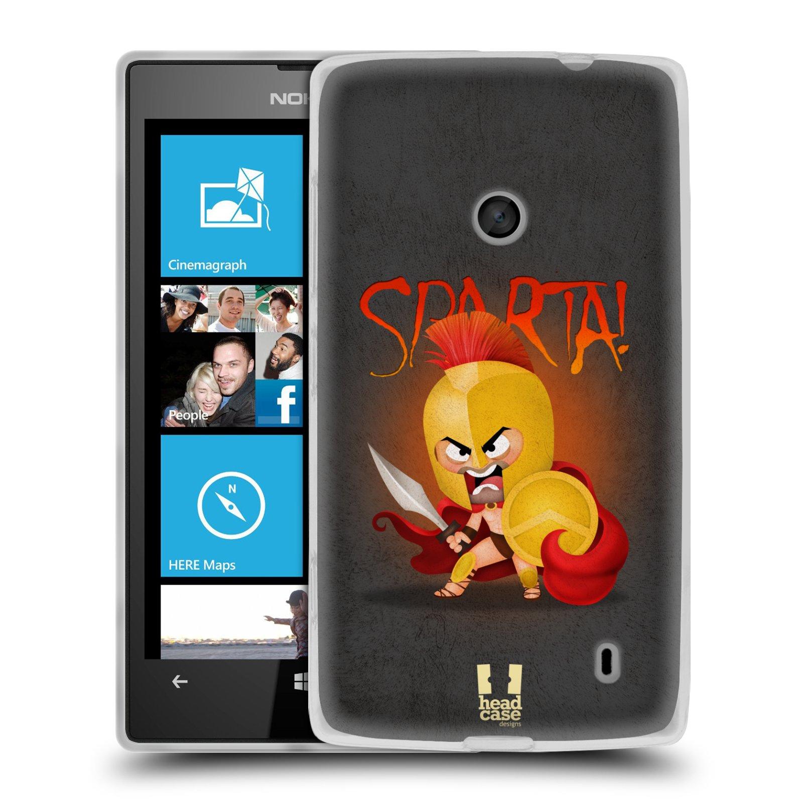 Silikonové pouzdro na mobil Nokia Lumia 520 HEAD CASE Sparta (Silikonový Kryt či obal na mobilní telefon Nokia Lumia 520)