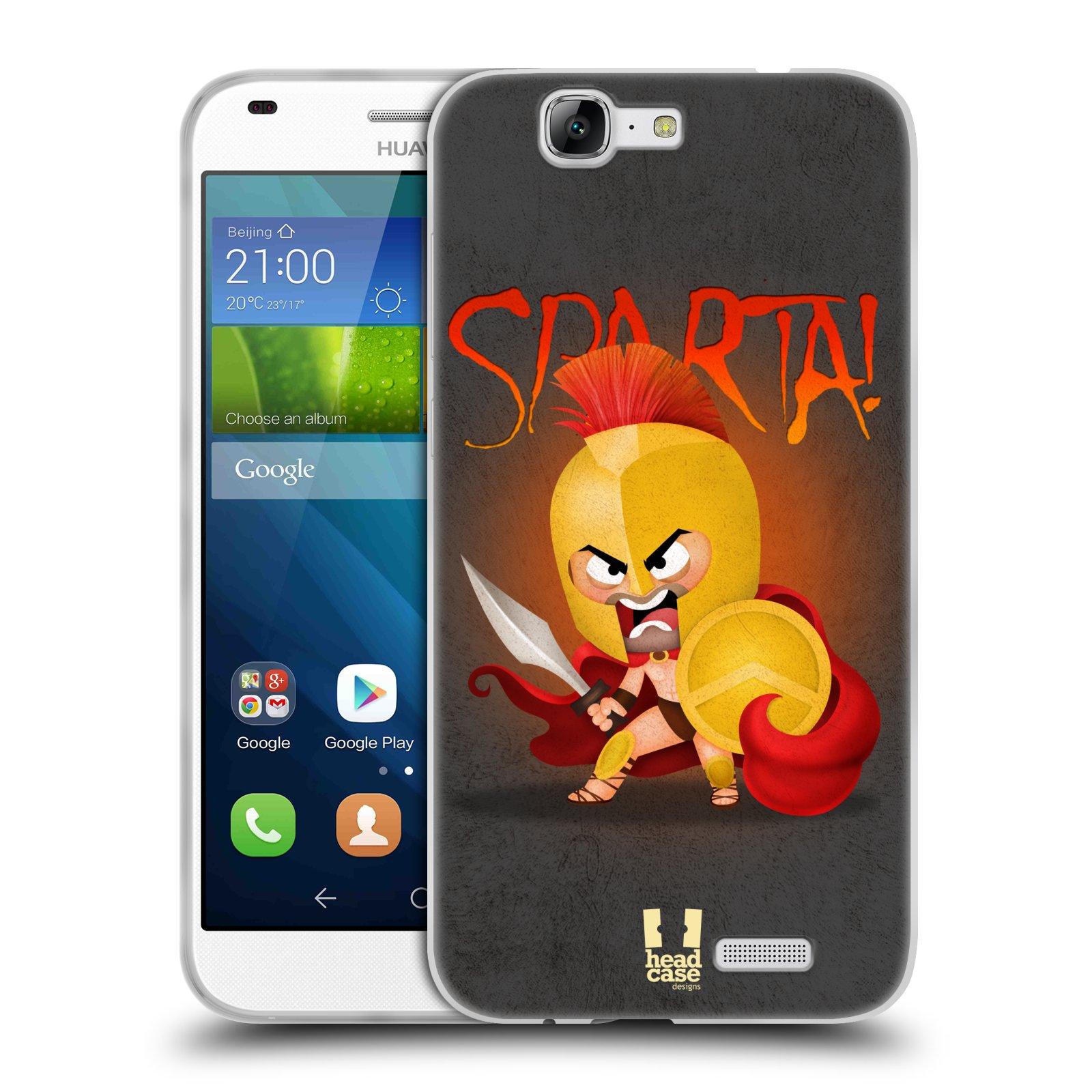Silikonové pouzdro na mobil Huawei Ascend G7 HEAD CASE Sparta (Silikonový kryt či obal na mobilní telefon Huawei Ascend G7)