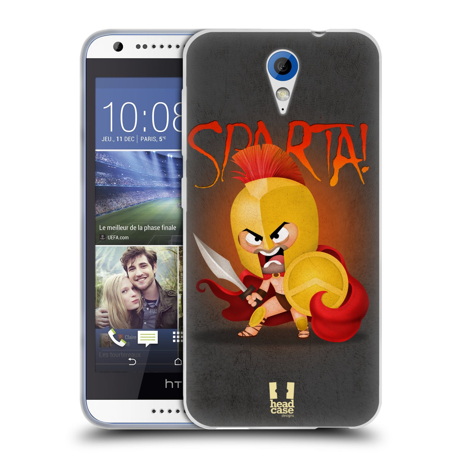 Silikonové pouzdro na mobil HTC Desire 620 HEAD CASE Sparta (Silikonový kryt či obal na mobilní telefon HTC Desire 620)