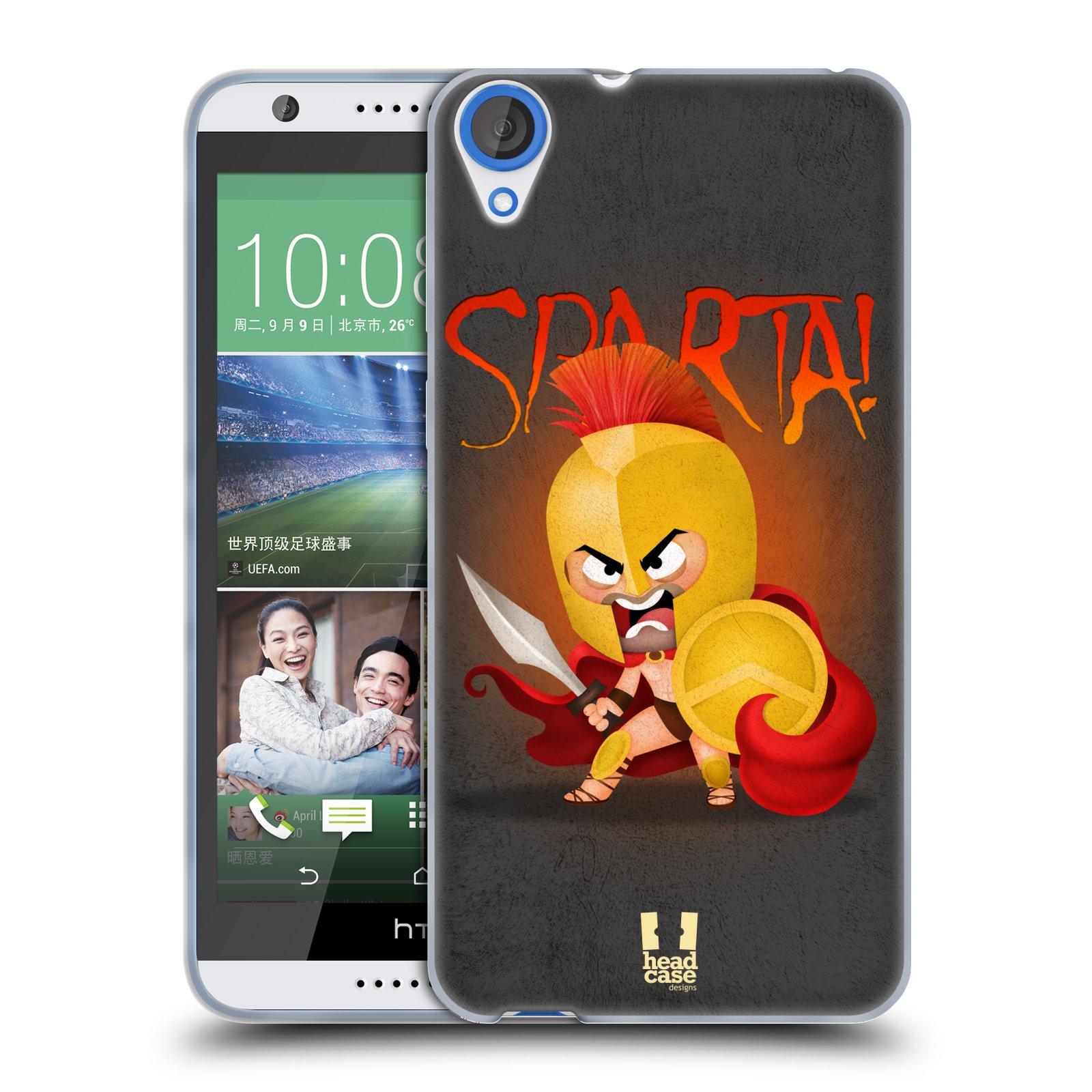 Silikonové pouzdro na mobil HTC Desire 820 HEAD CASE Sparta (Silikonový kryt či obal na mobilní telefon HTC Desire 820)