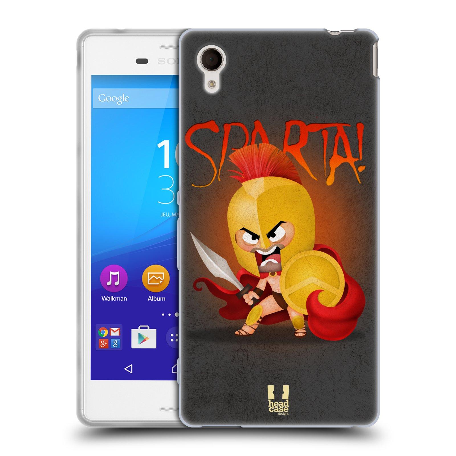 Silikonové pouzdro na mobil Sony Xperia M4 Aqua E2303 HEAD CASE Sparta (Silikonový kryt či obal na mobilní telefon Sony Xperia M4 Aqua a M4 Aqua Dual SIM)