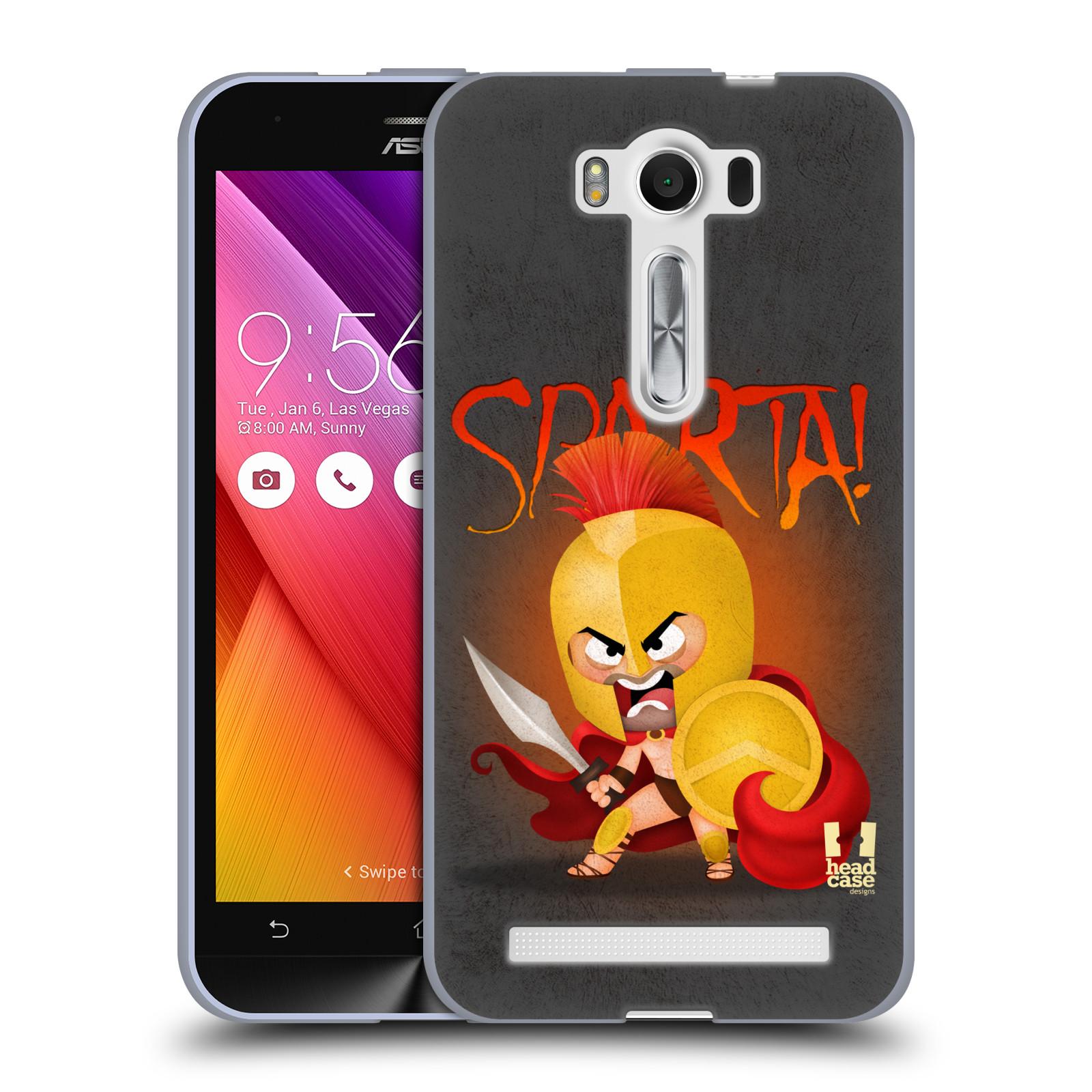 "Silikonové pouzdro na mobil Asus ZenFone 2 Laser ZE500KL HEAD CASE Sparta (Silikonový kryt či obal na mobilní telefon Asus ZenFone 2 Laser ZE500KL s 5"" displejem)"