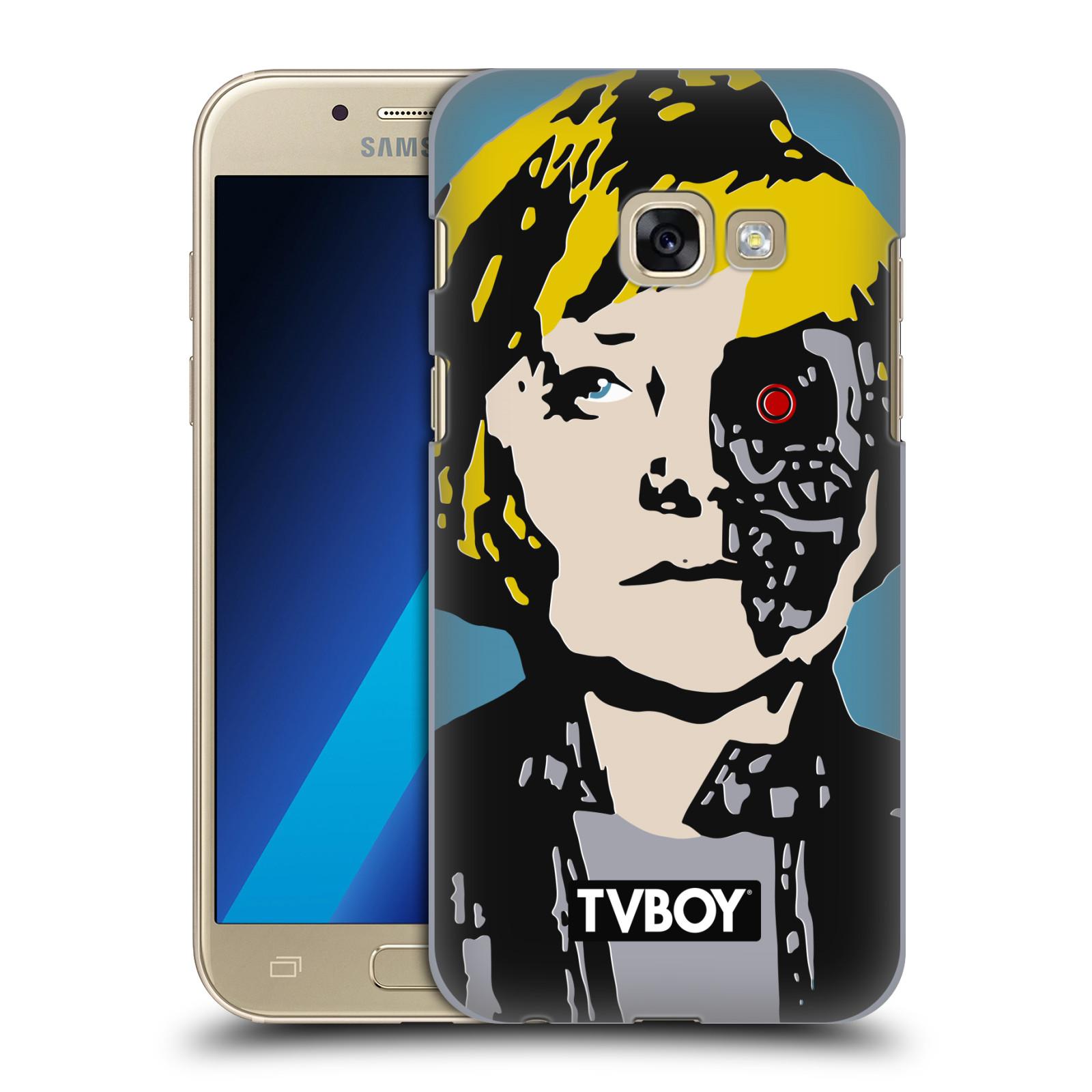 Plastové pouzdro na mobil Samsung Galaxy A3 (2017) HEAD CASE - TVBOY - Merkenator - Angela Merkelová