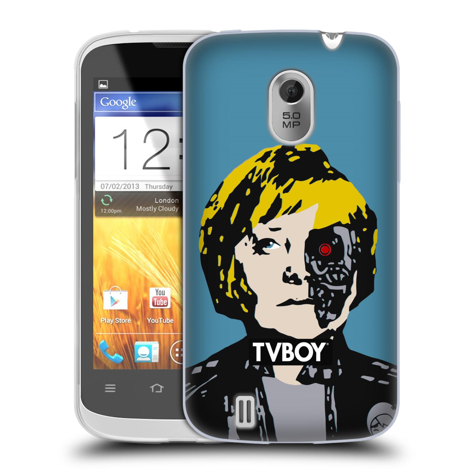 Silikonové pouzdro na mobil ZTE Blade III HEAD CASE - TVBOY - Merkenator - Angela Merkelová (Silikonový kryt či obal na mobilní telefon s licencovaným motivem TVBOY pro ZTE Blade 3)