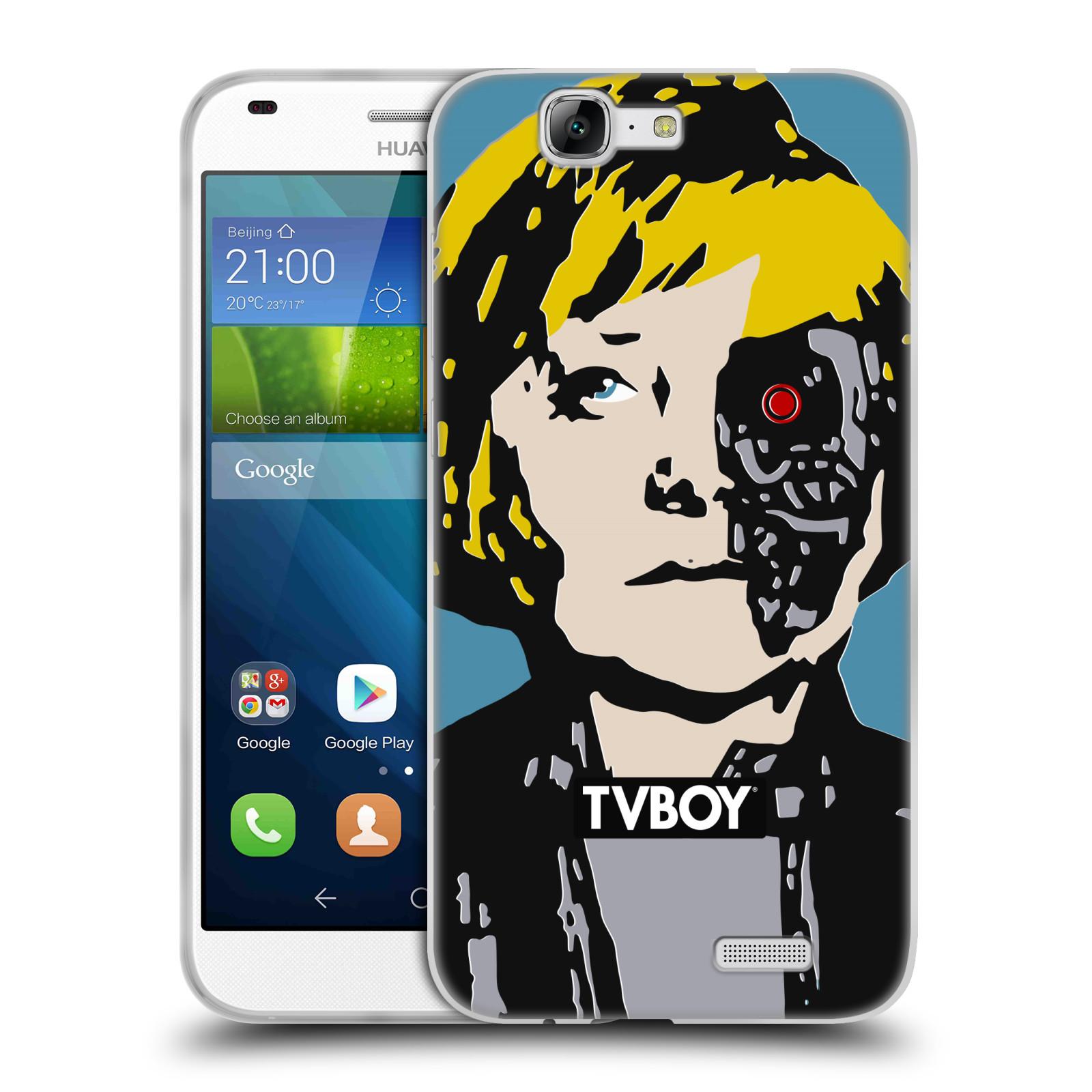 Silikonové pouzdro na mobil Huawei Ascend G7 HEAD CASE - TVBOY - Merkenator - Angela Merkelová (Silikonový kryt či obal na mobilní telefon s licencovaným motivem TVBOY pro Huawei Ascend G7)
