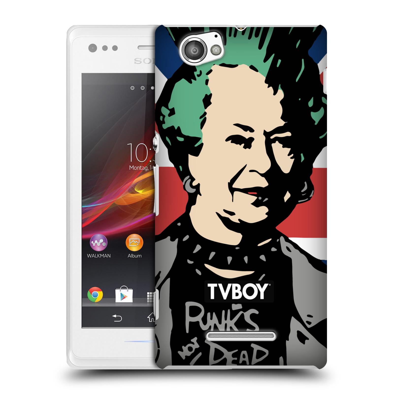 Plastové pouzdro na mobil Sony Xperia M C1905 HEAD CASE - TVBOY - Punková Královna (Kryt či obal na mobilní telefon s licencovaným motivem TVBOY pro Sony Xperia M )
