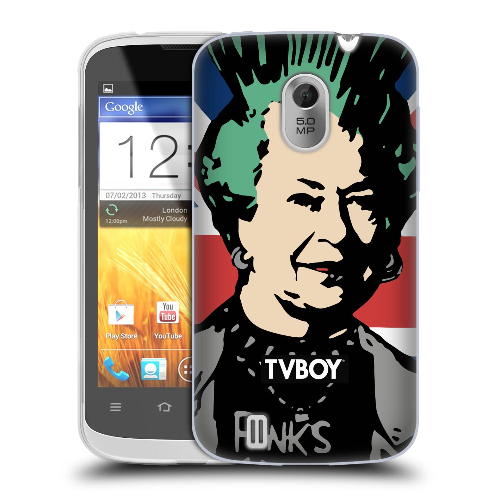 Silikonové pouzdro na mobil ZTE Blade III HEAD CASE - TVBOY - Punková Královna (Silikonový kryt či obal na mobilní telefon s licencovaným motivem TVBOY pro ZTE Blade 3)