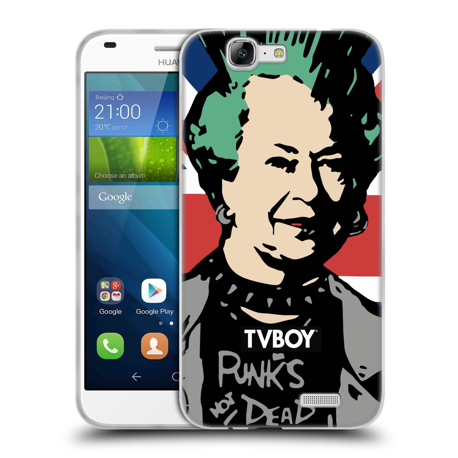 Silikonové pouzdro na mobil Huawei Ascend G7 HEAD CASE - TVBOY - Punková Královna (Silikonový kryt či obal na mobilní telefon s licencovaným motivem TVBOY pro Huawei Ascend G7)