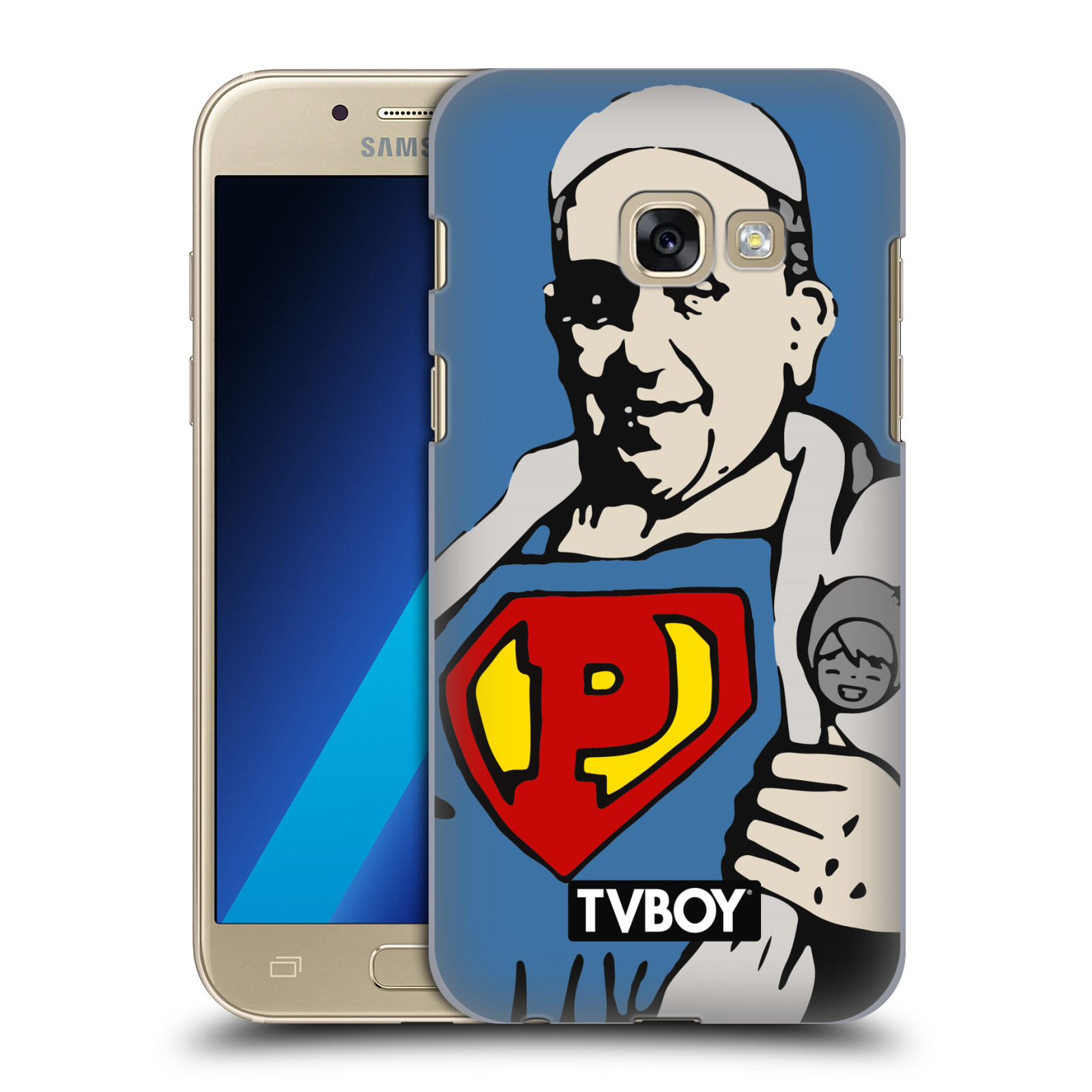Plastové pouzdro na mobil Samsung Galaxy A3 (2017) HEAD CASE - TVBOY - Super Papež