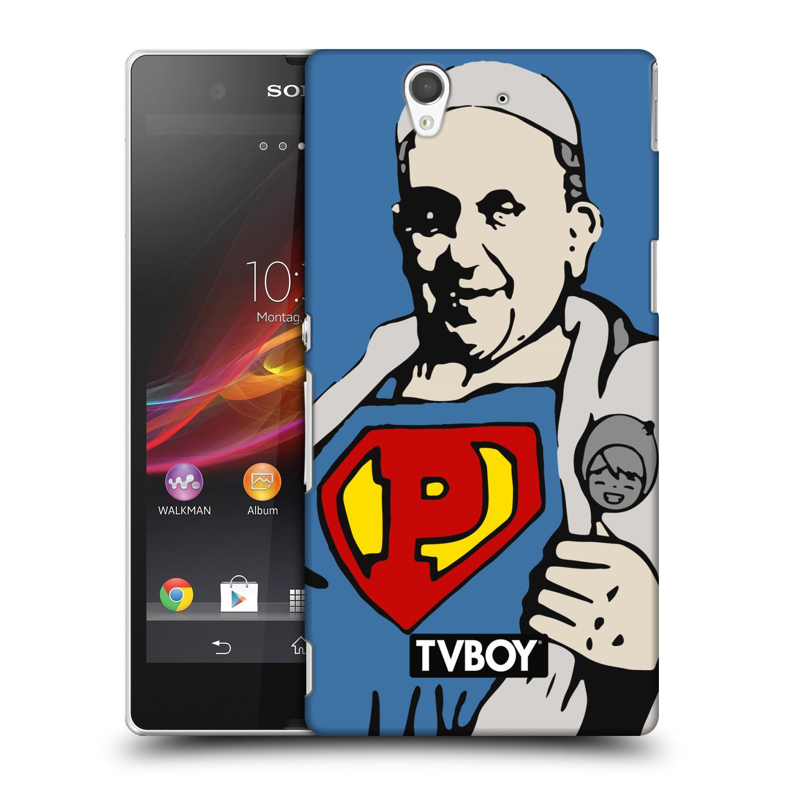 Plastové pouzdro na mobil Sony Xperia Z C6603 HEAD CASE - TVBOY - Super Papež (Kryt či obal na mobilní telefon s licencovaným motivem TVBOY pro Sony Xperia Z)
