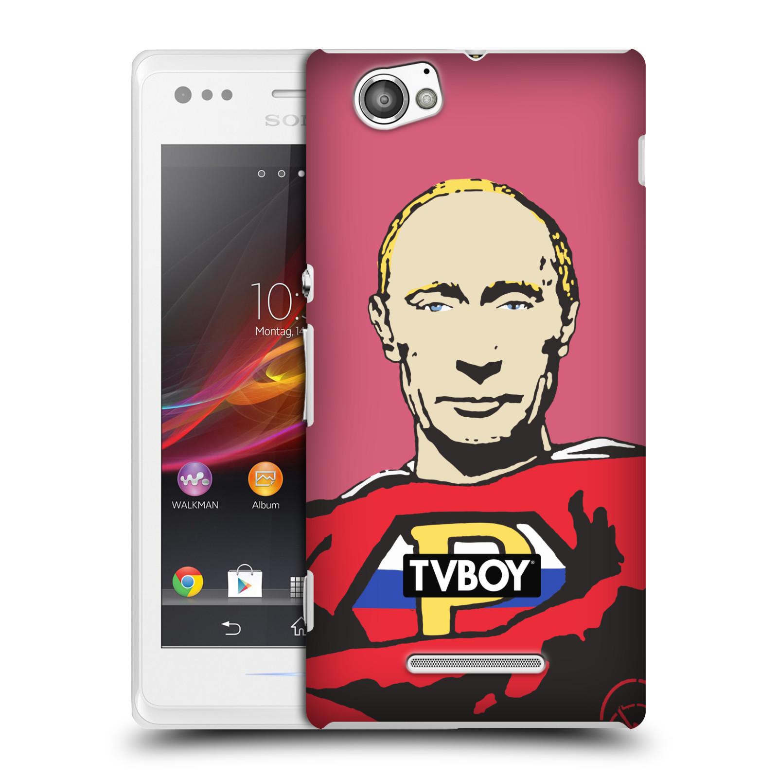 Plastové pouzdro na mobil Sony Xperia M C1905 HEAD CASE - TVBOY - Super Putin (Kryt či obal na mobilní telefon s licencovaným motivem TVBOY pro Sony Xperia M )
