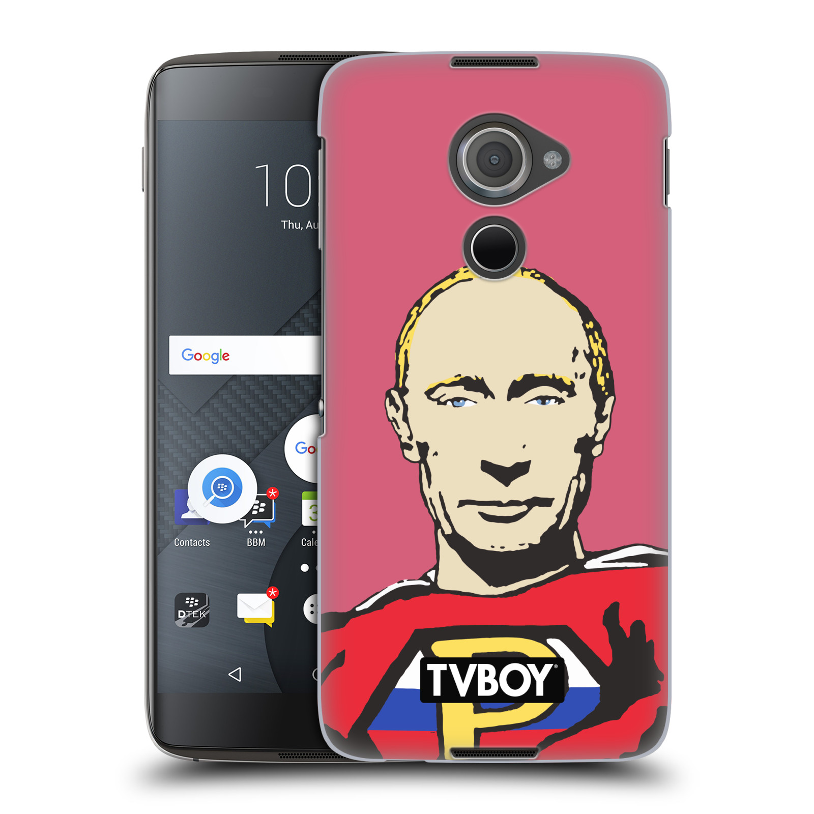 Plastové pouzdro na mobil Blackberry DTEK60 (Argon) - Head Case - TVBOY - Super Putin