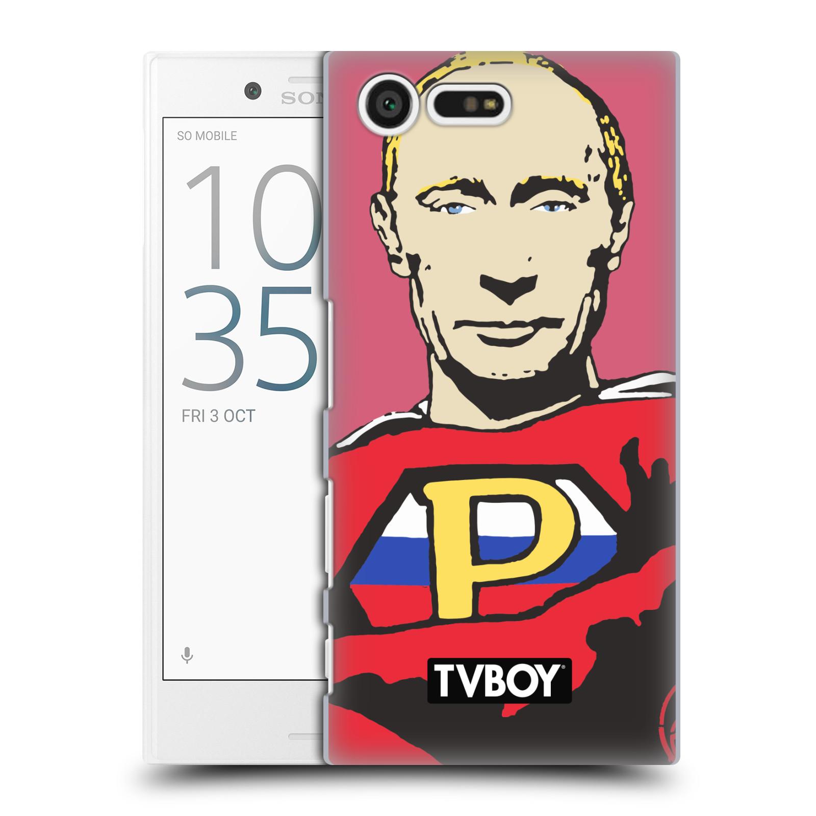 Plastové pouzdro na mobil Sony Xperia X Compact HEAD CASE - TVBOY - Super Putin