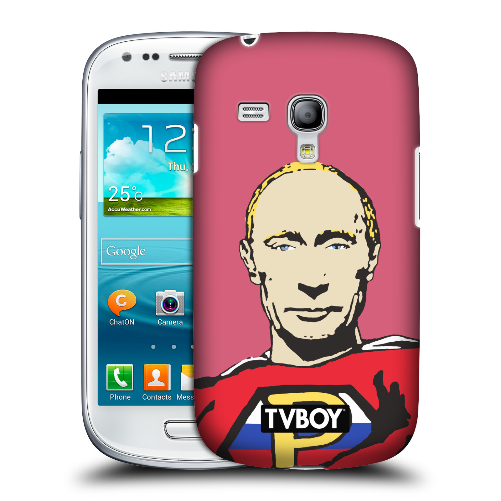 Plastové pouzdro na mobil Samsung Galaxy S III Mini VE HEAD CASE - TVBOY - Super Putin (Kryt či obal na mobilní telefon s licencovaným motivem TVBOY pro Samsung Galaxy S3 Mini VE GT-i8200)