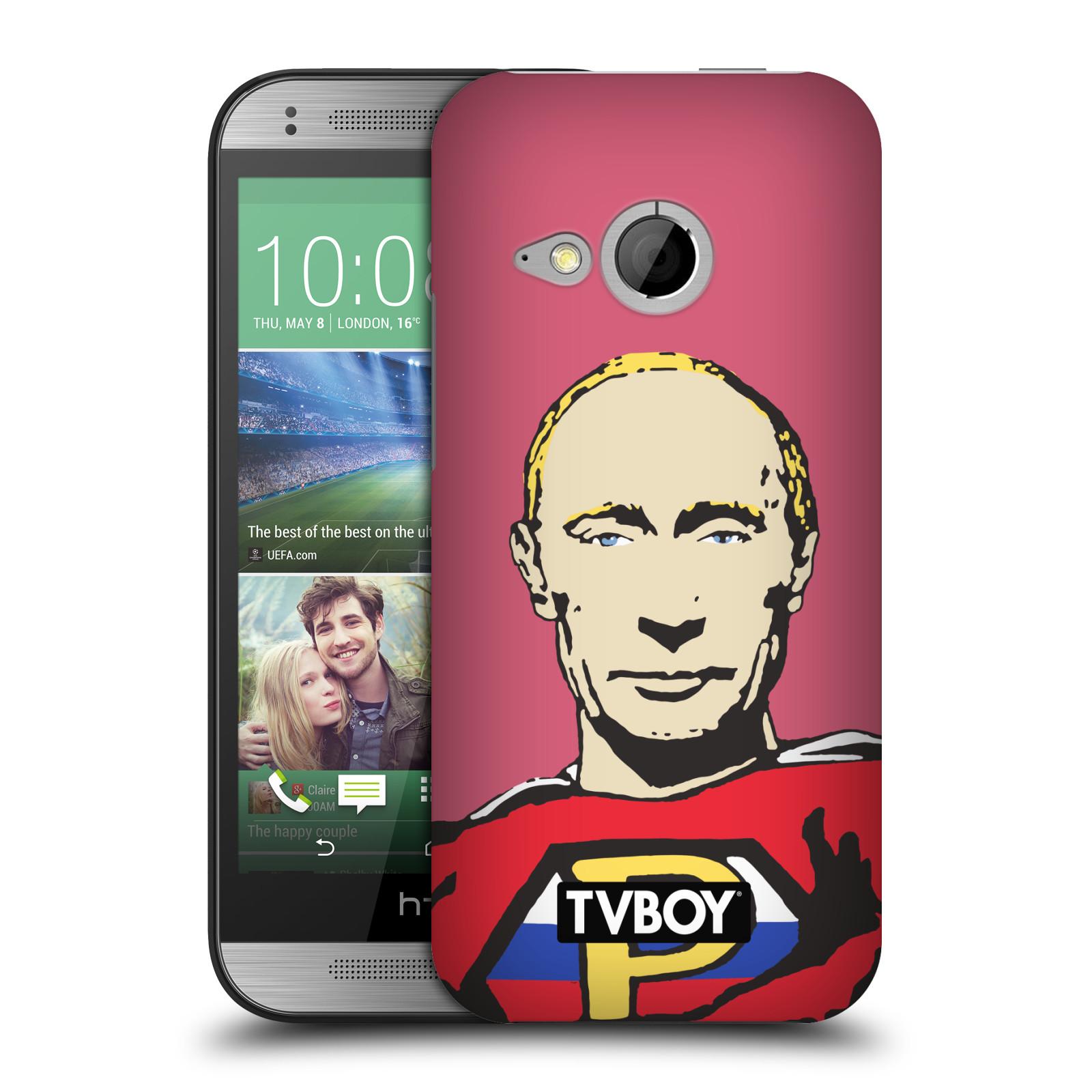 Plastové pouzdro na mobil HTC ONE Mini 2 HEAD CASE - TVBOY - Super Putin (Kryt či obal na mobilní telefon s licencovaným motivem TVBOY pro HTC ONE Mini 2)