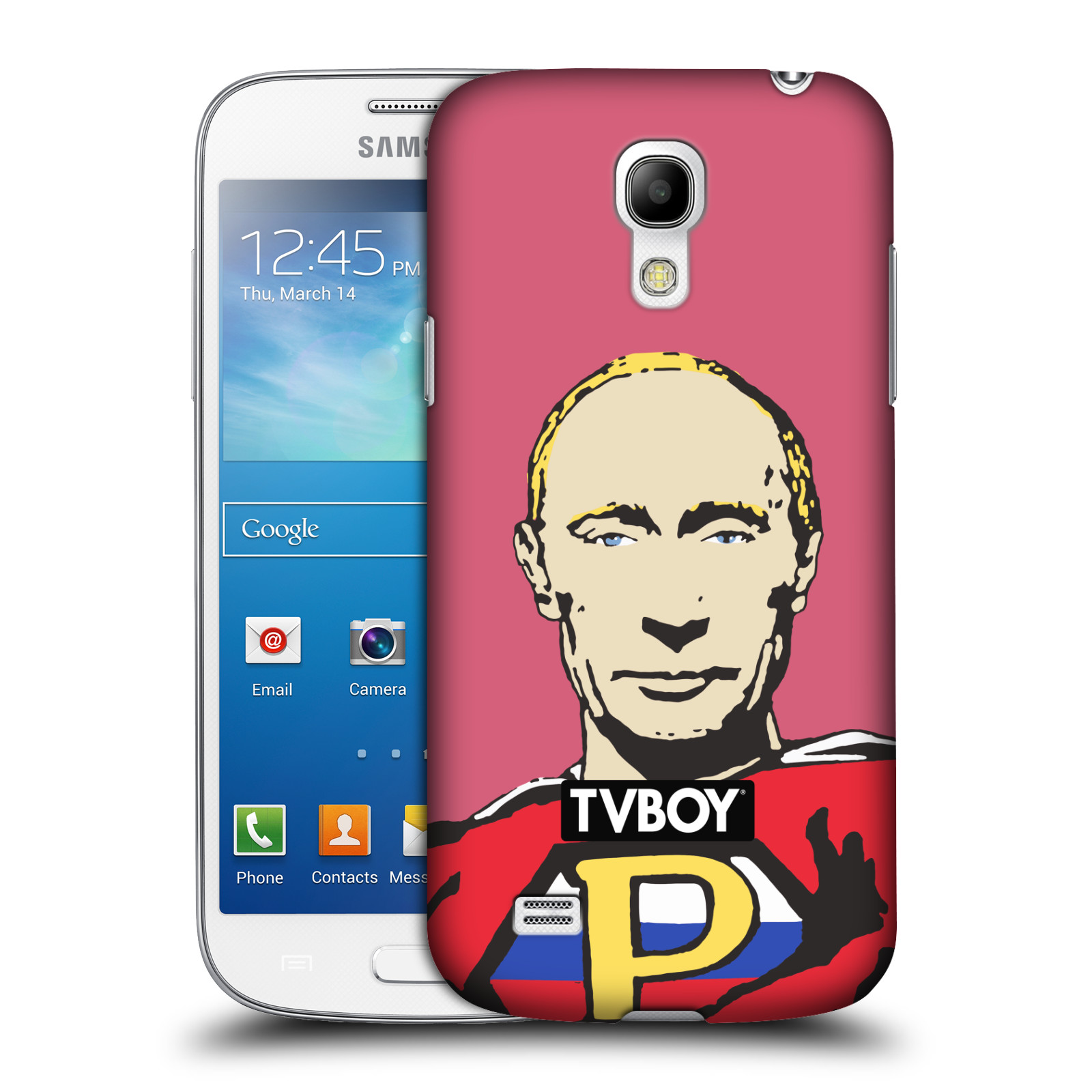 Plastové pouzdro na mobil Samsung Galaxy S4 Mini HEAD CASE - TVBOY - Super Putin