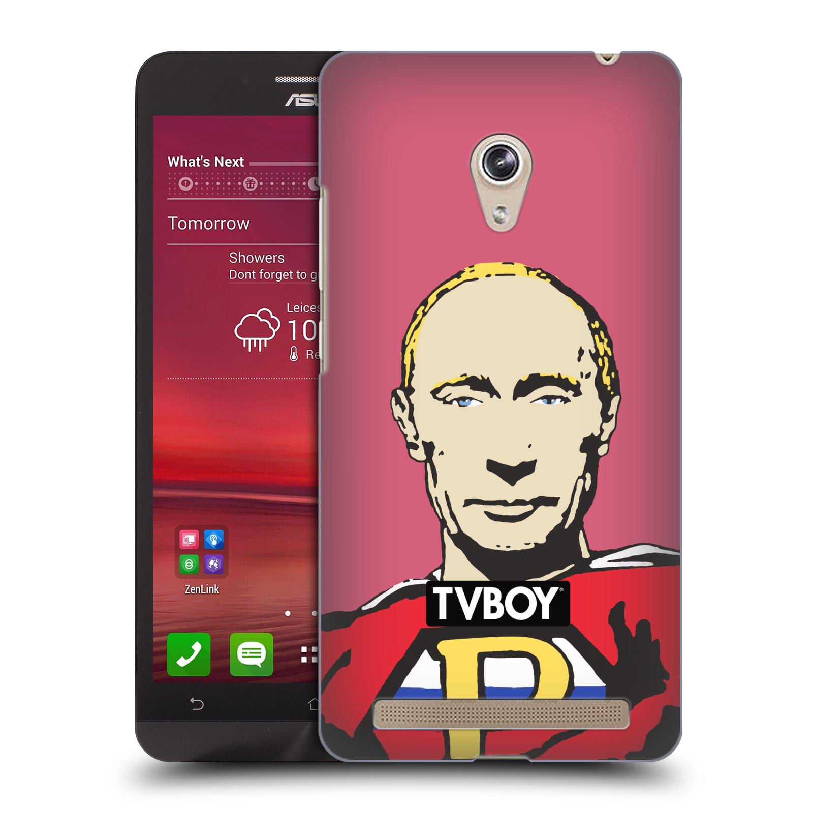 Plastové pouzdro na mobil Asus Zenfone 6 HEAD CASE - TVBOY - Super Putin (Kryt či obal na mobilní telefon s licencovaným motivem TVBOY pro Asus Zenfone 6 A600CG / A601CG)