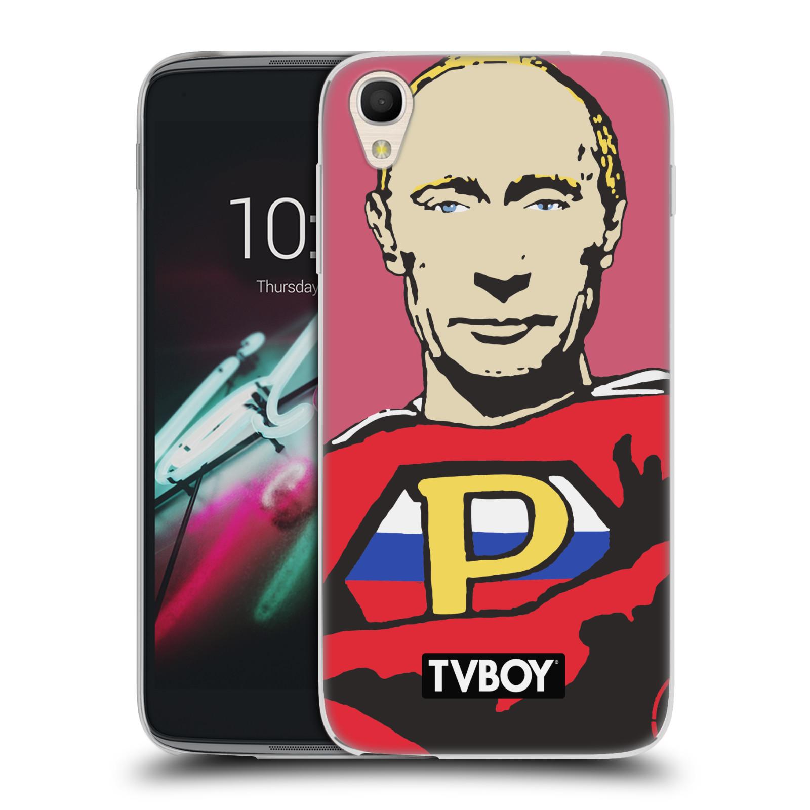 """Silikonové pouzdro na mobil Alcatel One Touch 6039Y Idol 3 HEAD CASE - TVBOY - Super Putin (Silikonový kryt či obal na mobilní telefon s licencovaným motivem TVBOY pro Alcatel One Touch Idol 3 OT-6039Y s 4,7"""" displejem)"""