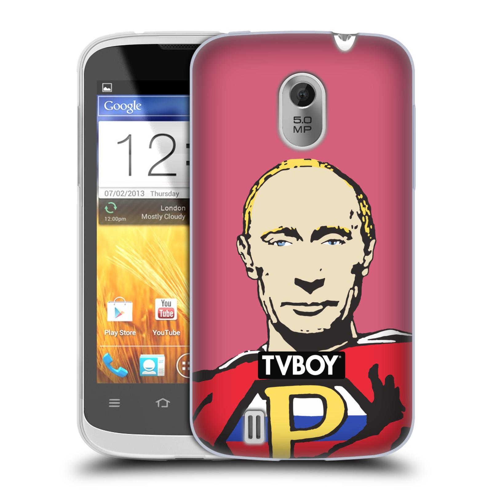 Silikonové pouzdro na mobil ZTE Blade III HEAD CASE - TVBOY - Super Putin (Silikonový kryt či obal na mobilní telefon s licencovaným motivem TVBOY pro ZTE Blade 3)