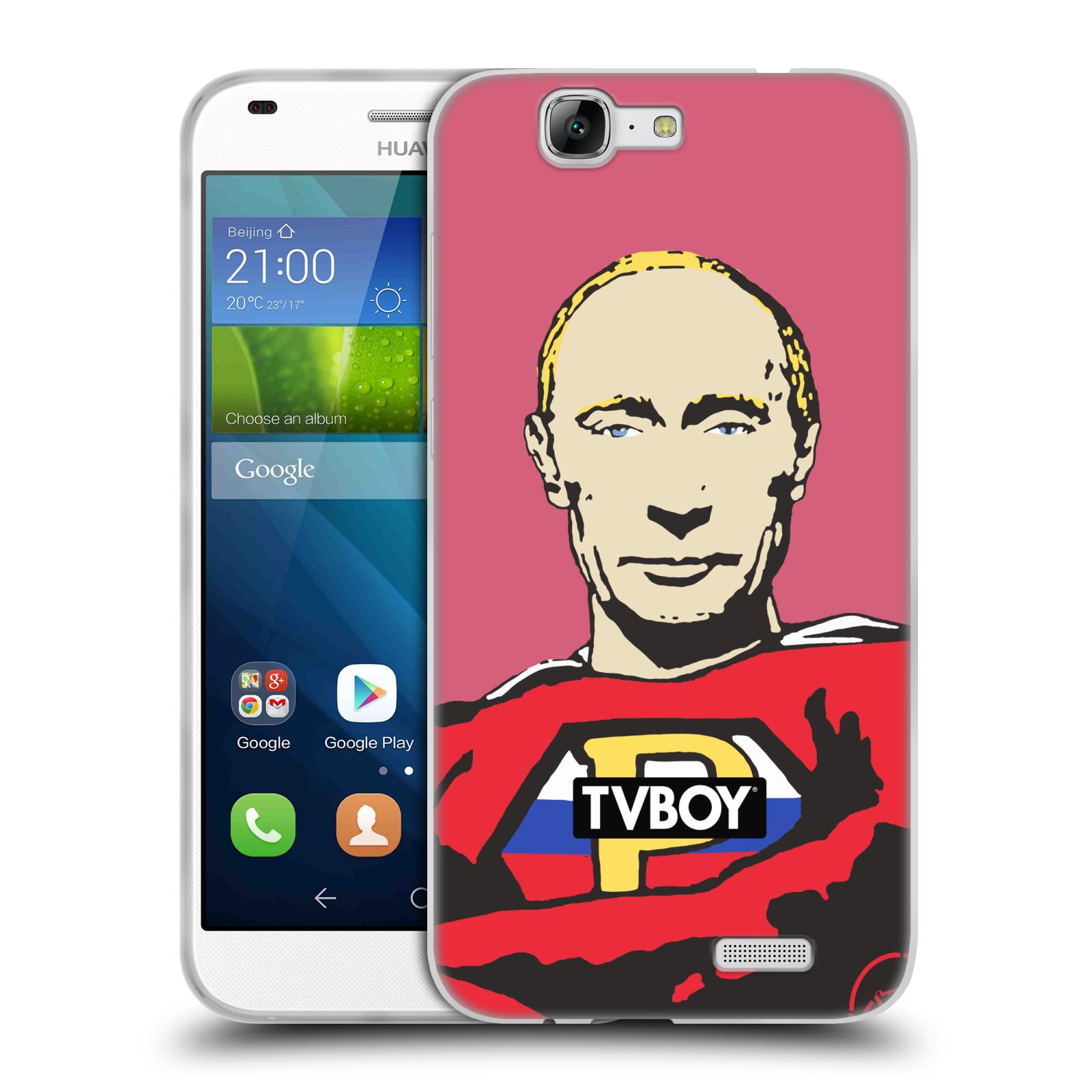 Silikonové pouzdro na mobil Huawei Ascend G7 HEAD CASE - TVBOY - Super Putin (Silikonový kryt či obal na mobilní telefon s licencovaným motivem TVBOY pro Huawei Ascend G7)