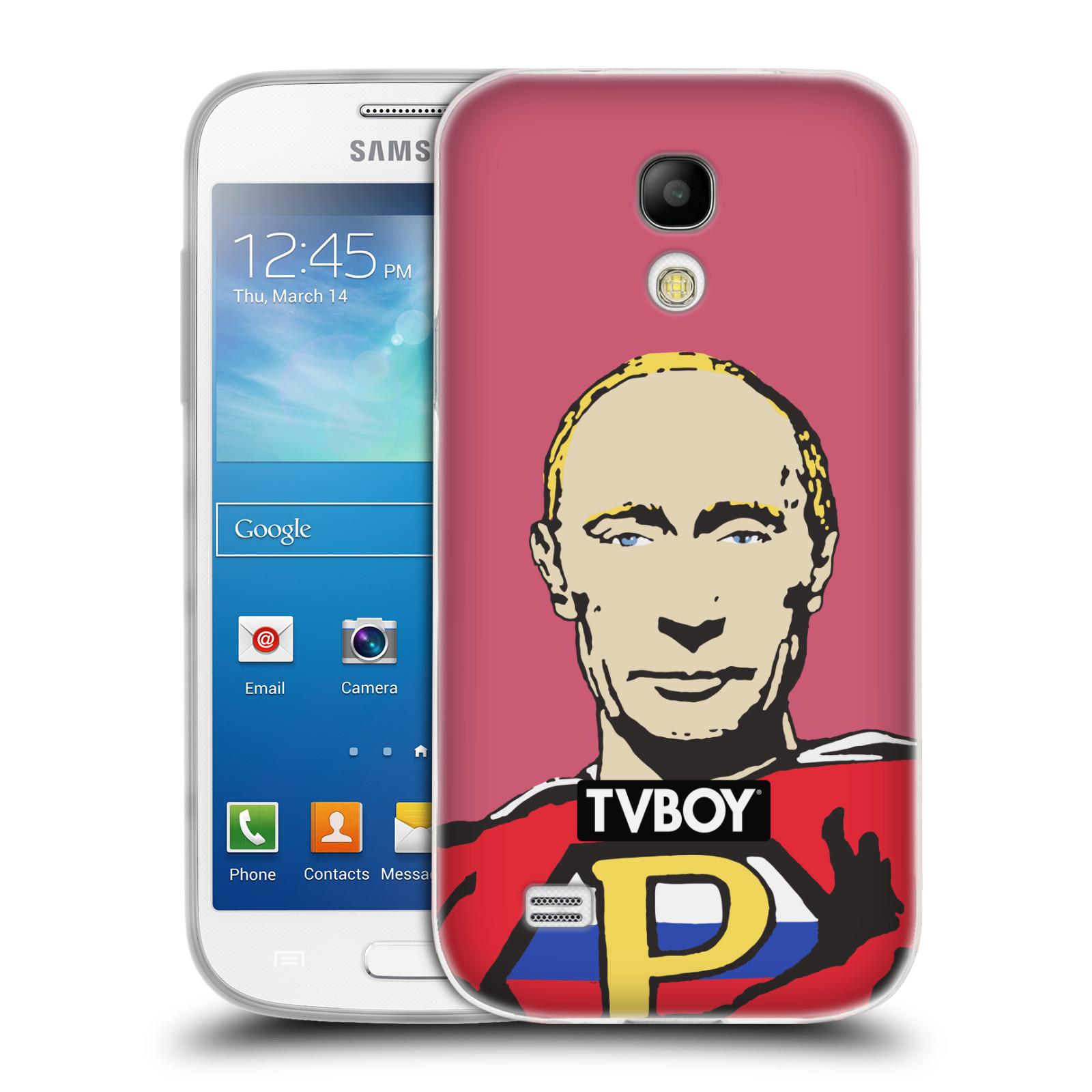 Silikonové pouzdro na mobil Samsung Galaxy S4 Mini HEAD CASE - TVBOY - Super Putin