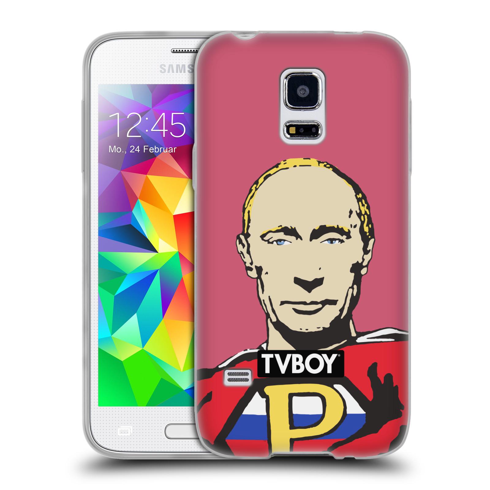 Silikonové pouzdro na mobil Samsung Galaxy S5 Mini HEAD CASE - TVBOY - Super Putin