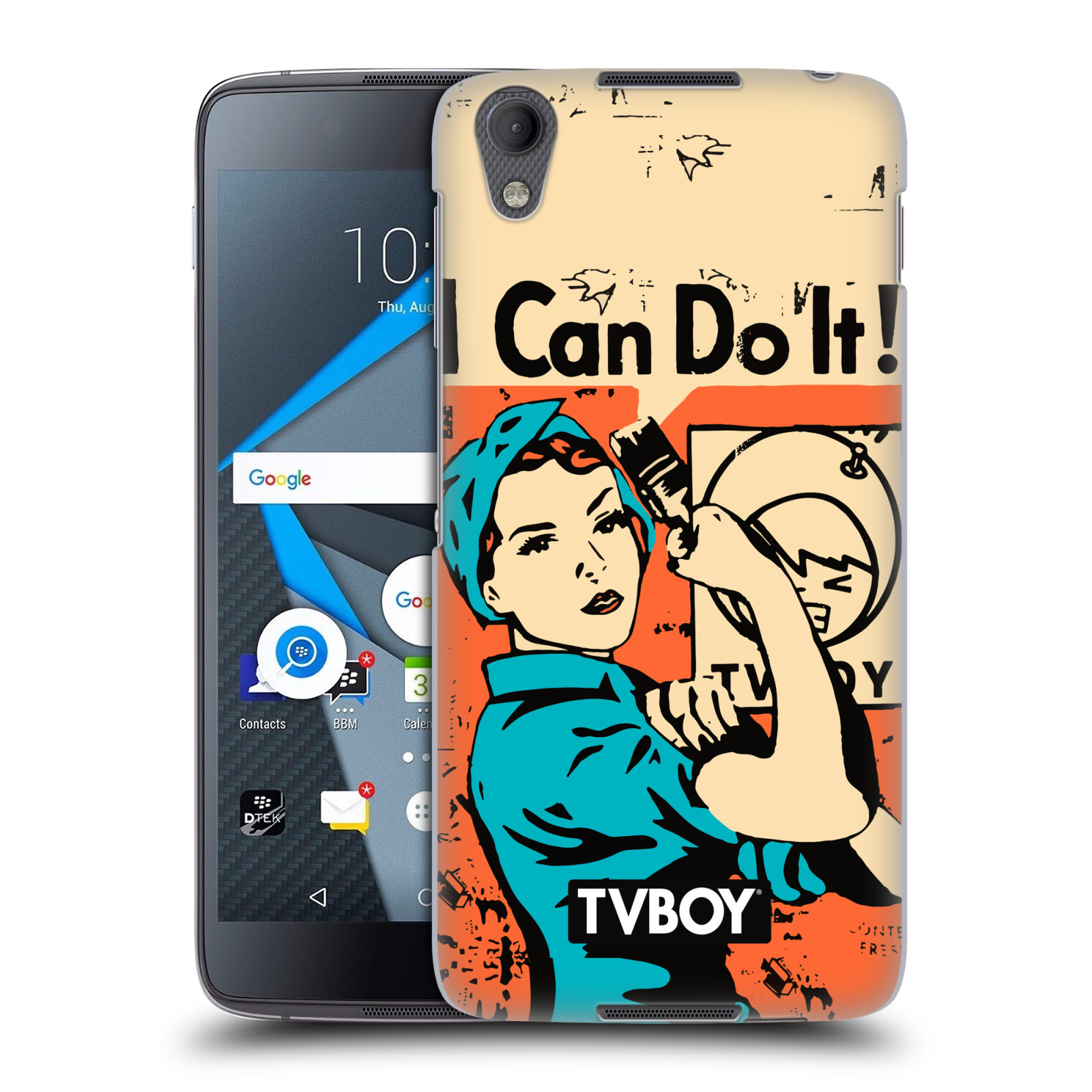 Plastové pouzdro na mobil Blackberry DTEK50 (Neon) - Head Case - TVBOY - I can do it