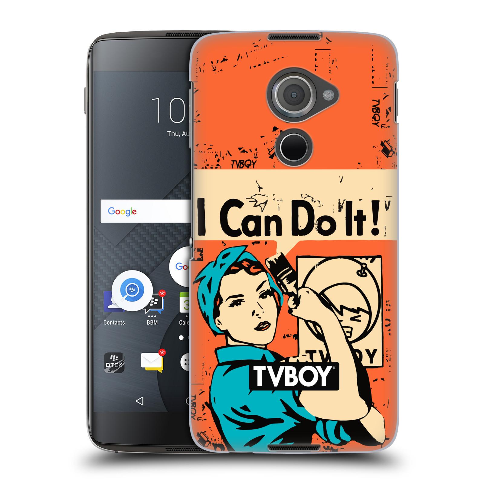 Plastové pouzdro na mobil Blackberry DTEK60 (Argon) - Head Case - TVBOY - I can do it